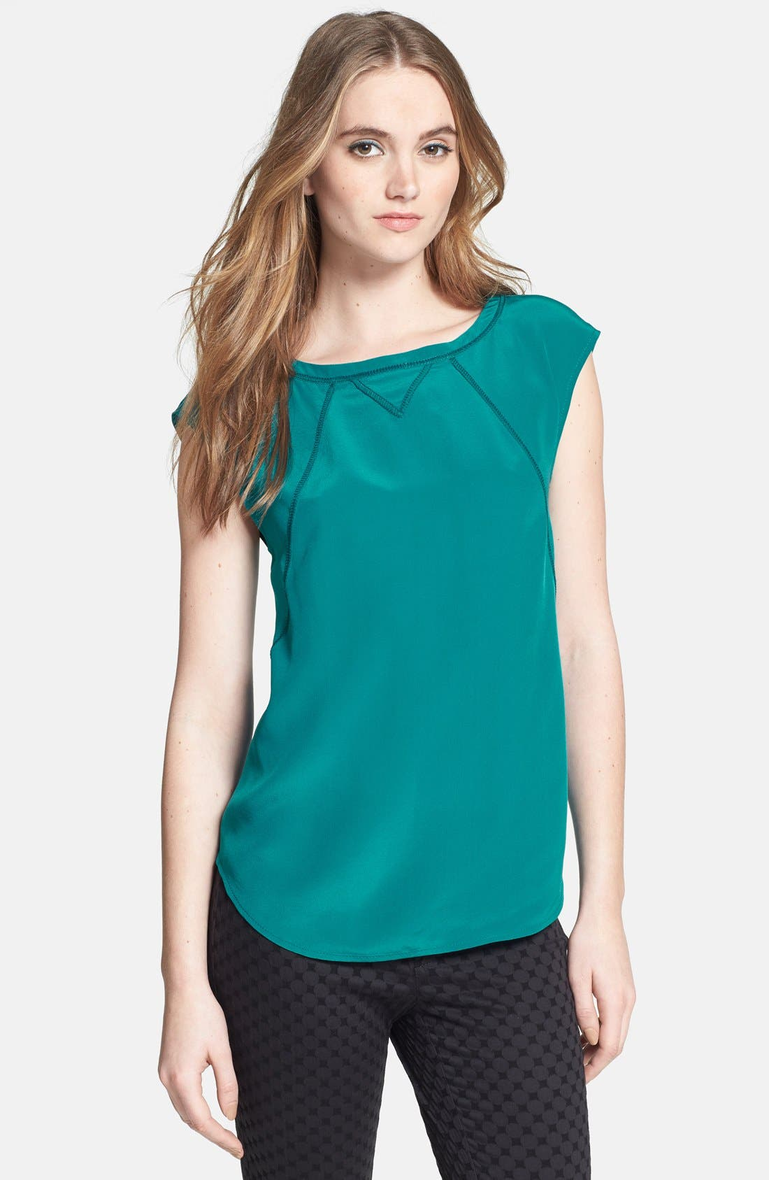 Alternate Image 1 Selected - MARC BY MARC JACOBS 'Frances' Silk Tee