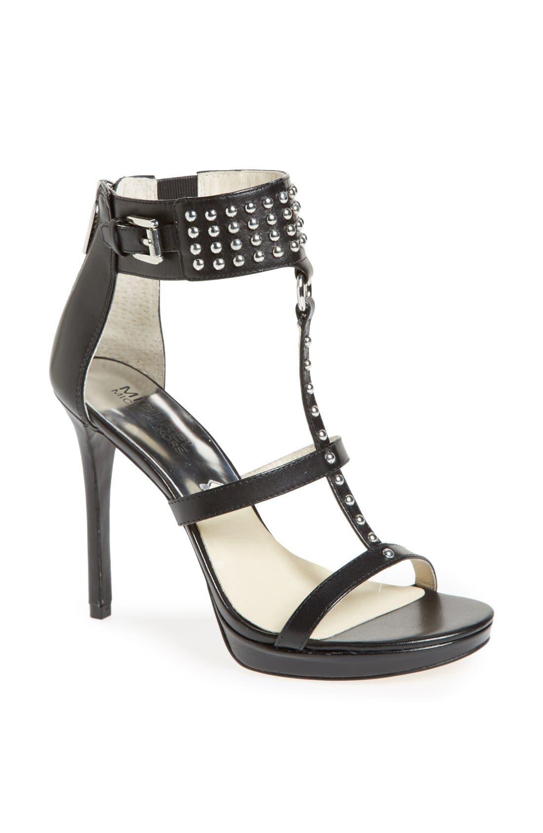Alternate Image 1 Selected - MICHAEL Michael Kors 'Celena' Studded Leather Sandal