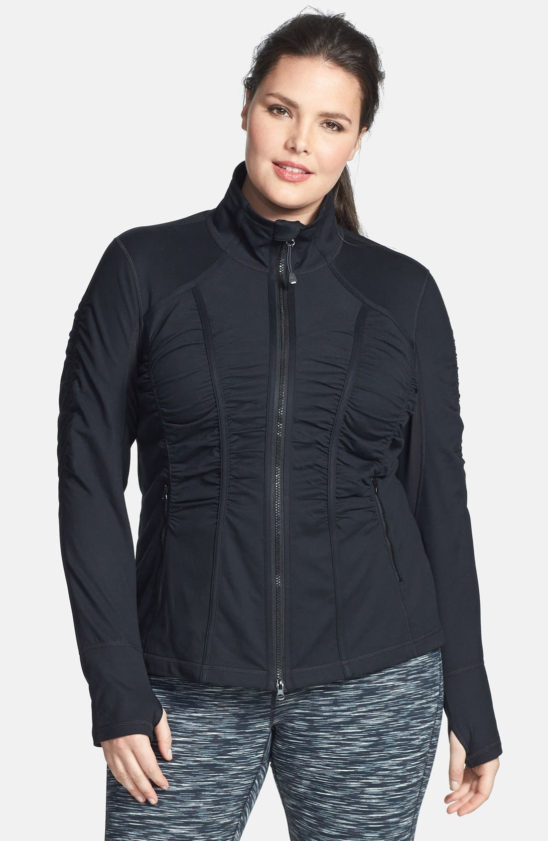 Alternate Image 1 Selected - Zella 'Trinity' Jacket (Plus Size)