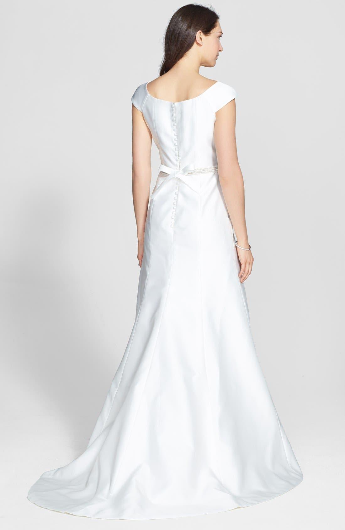 Alternate Image 2  - Jesús Peiró Embellished Waist Mikado A-Line Dress (In Stores Only)