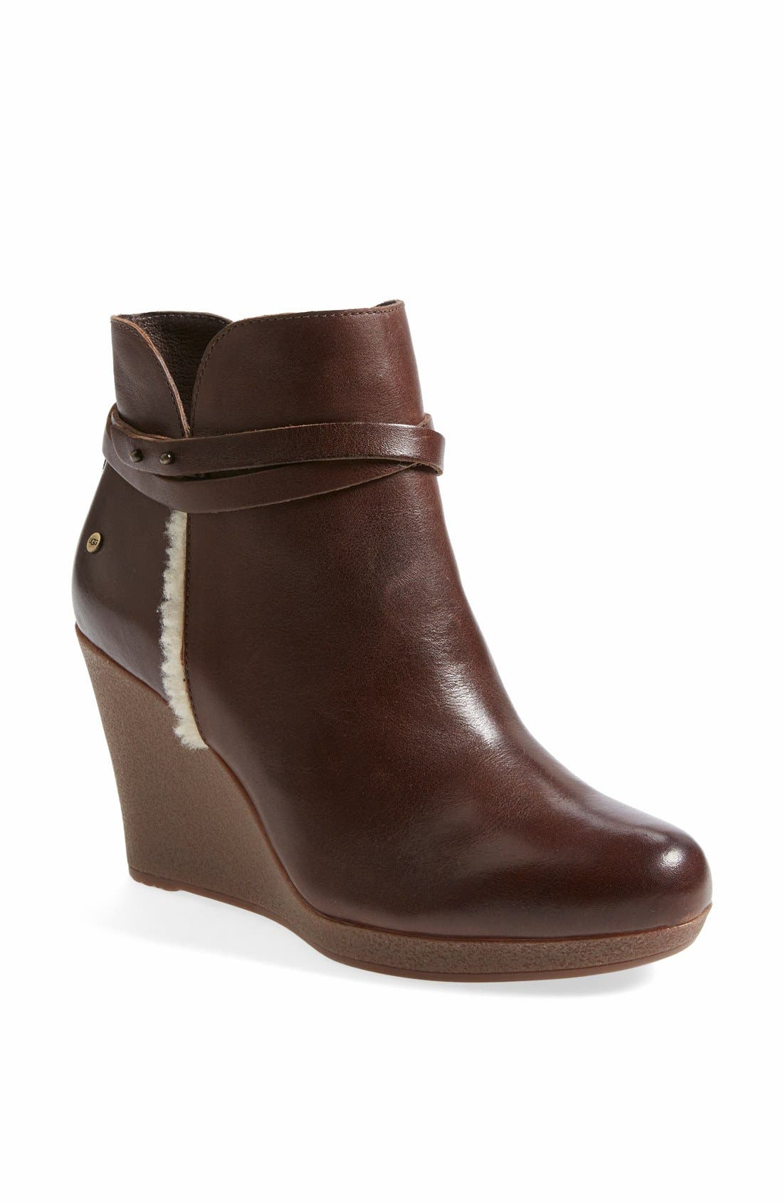 Australia 'Alexandra' Water Resistant Wedge Bootie,                         Main,                         color, Stout