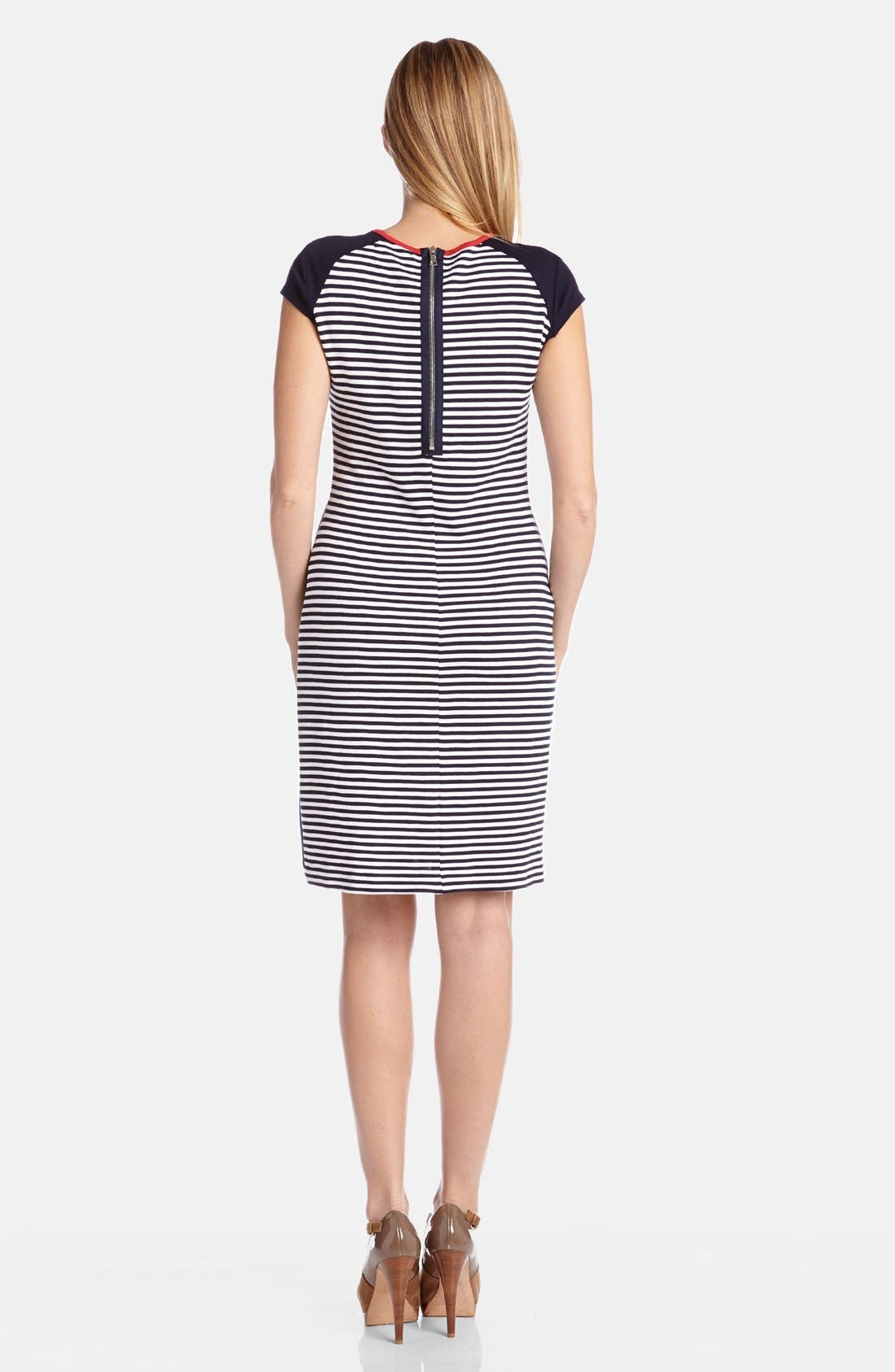 Alternate Image 2  - Karen Kane Colorblock Stripe Knit Sheath Dress
