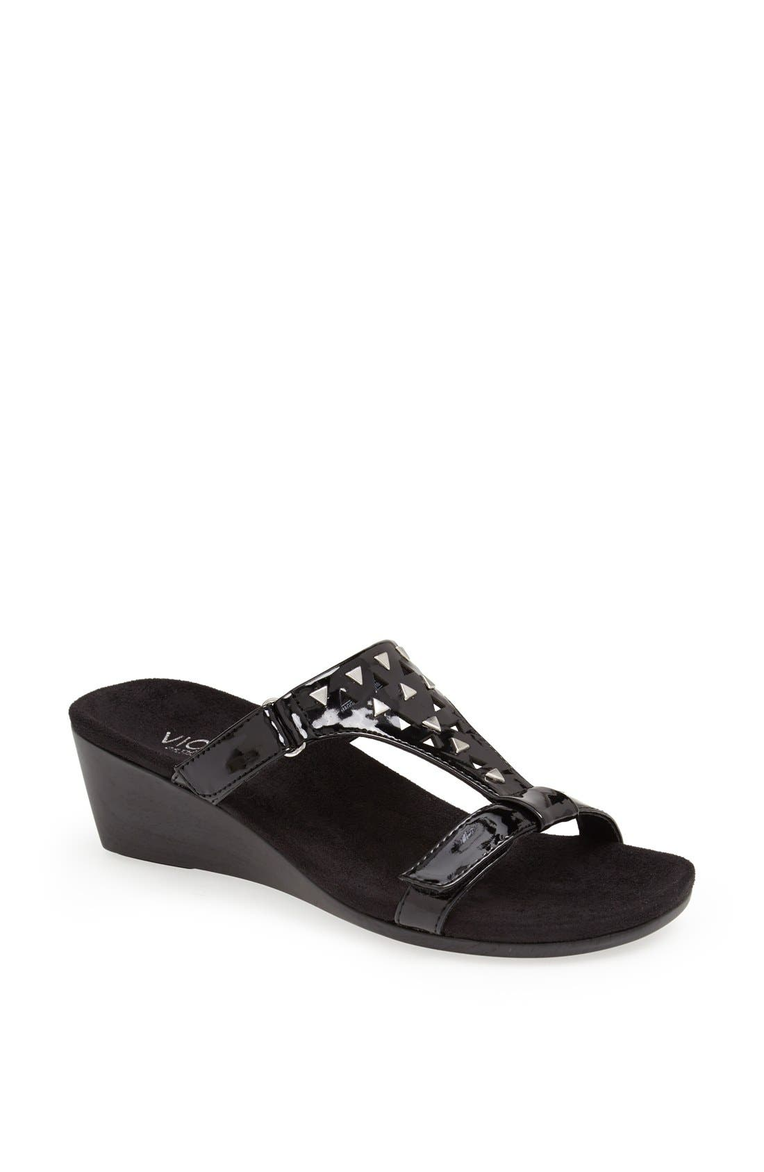 Alternate Image 1 Selected - Vionic 'Maggie' Geometric Cutout Wedge Sandal