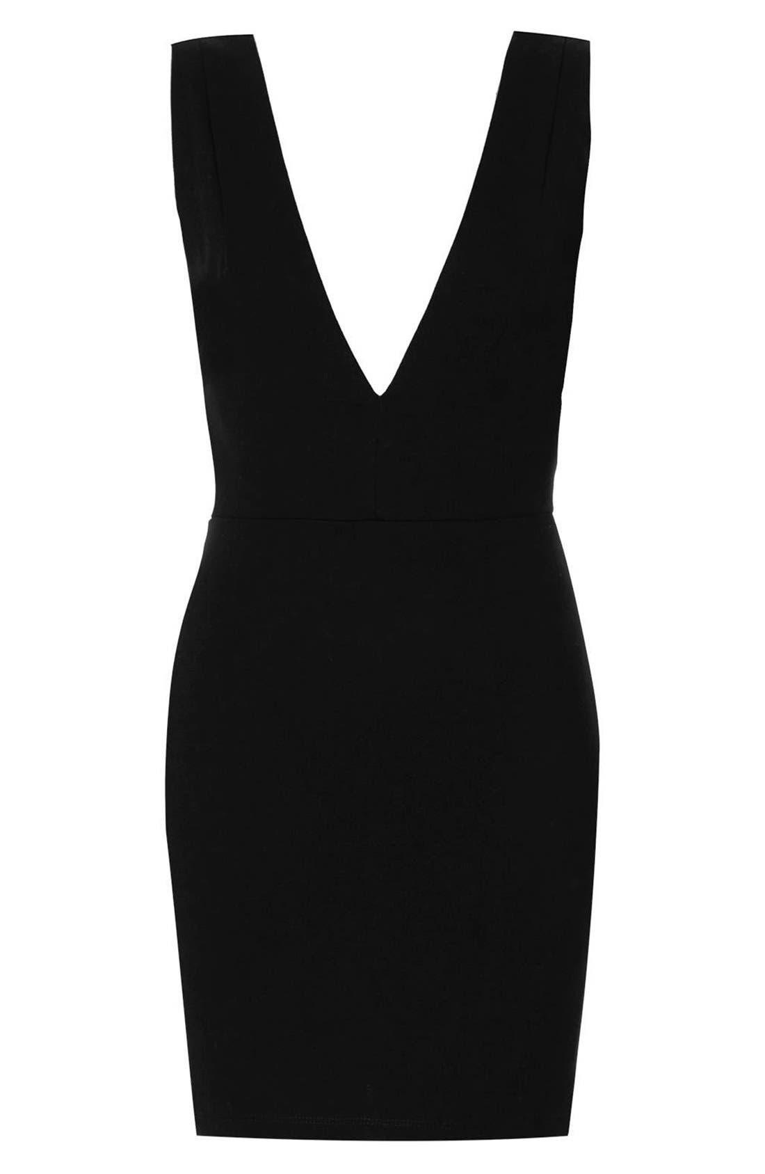 Alternate Image 3  - Topshop Deep-V Jersey Body-Con Dress