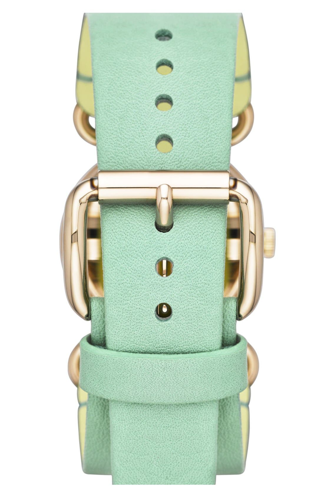 Alternate Image 2  - MARC BY MARC JACOBS 'Small Molly' Leather Strap Watch, 30mm