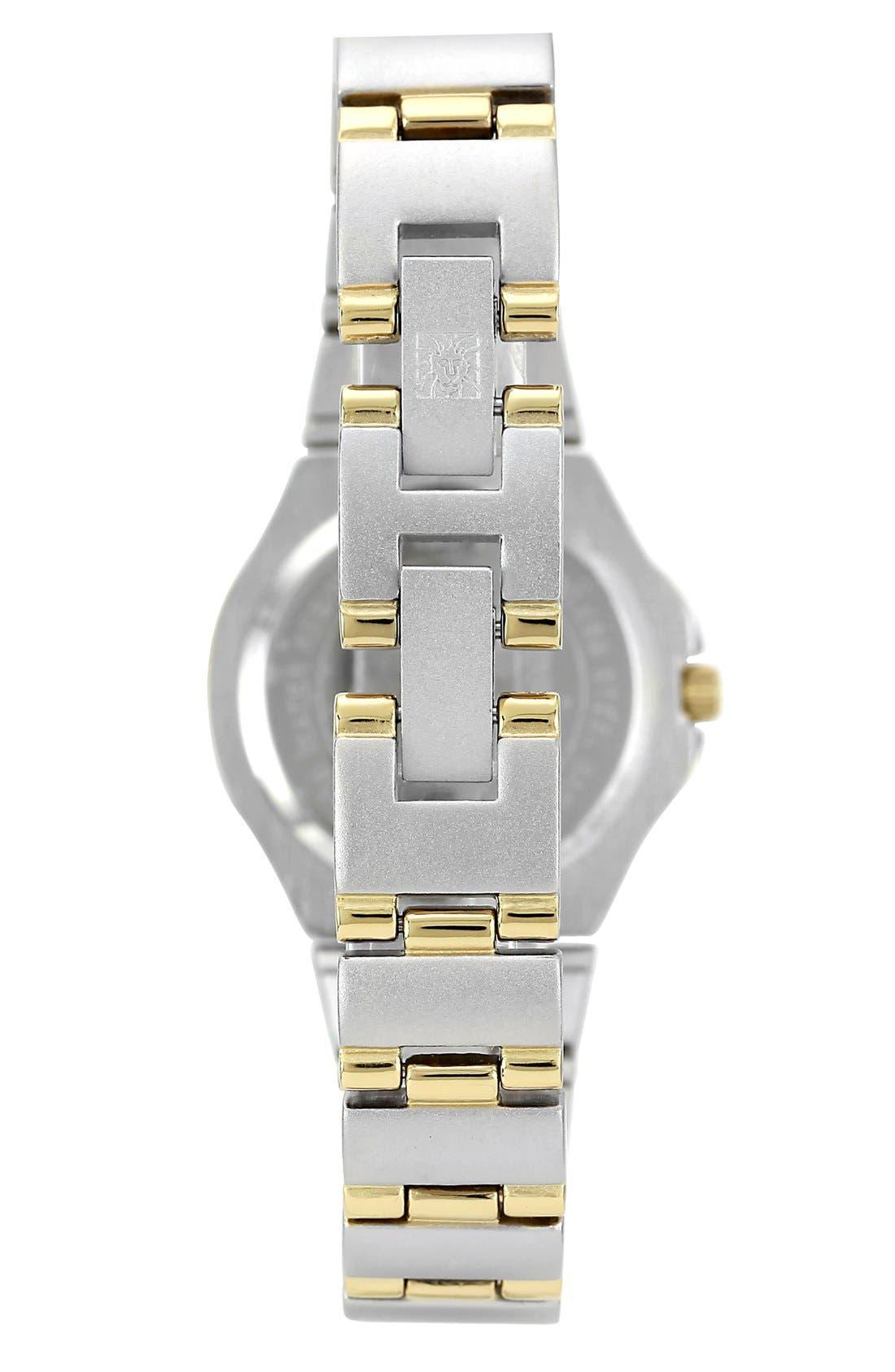 Alternate Image 2  - Anne Klein Silver Dial Bracelet Watch, 25mm