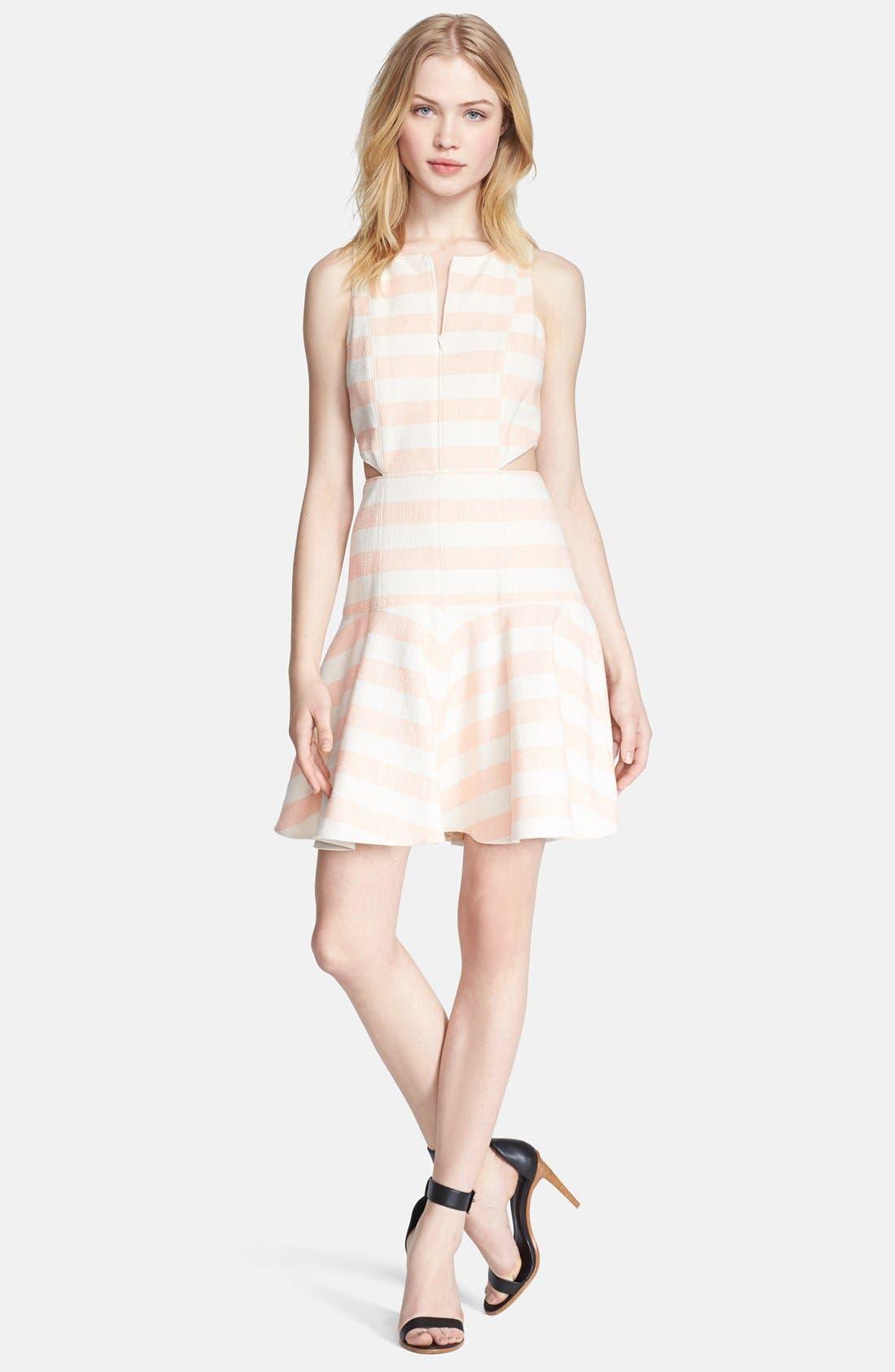 Alternate Image 1 Selected - Tibi Woven Fit & Flare Dress