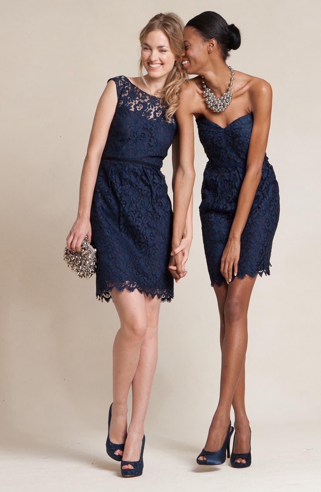 Alternate Image 5  - Jenny Yoo 'Hudson' Lace Sheath Dress (Online Only)