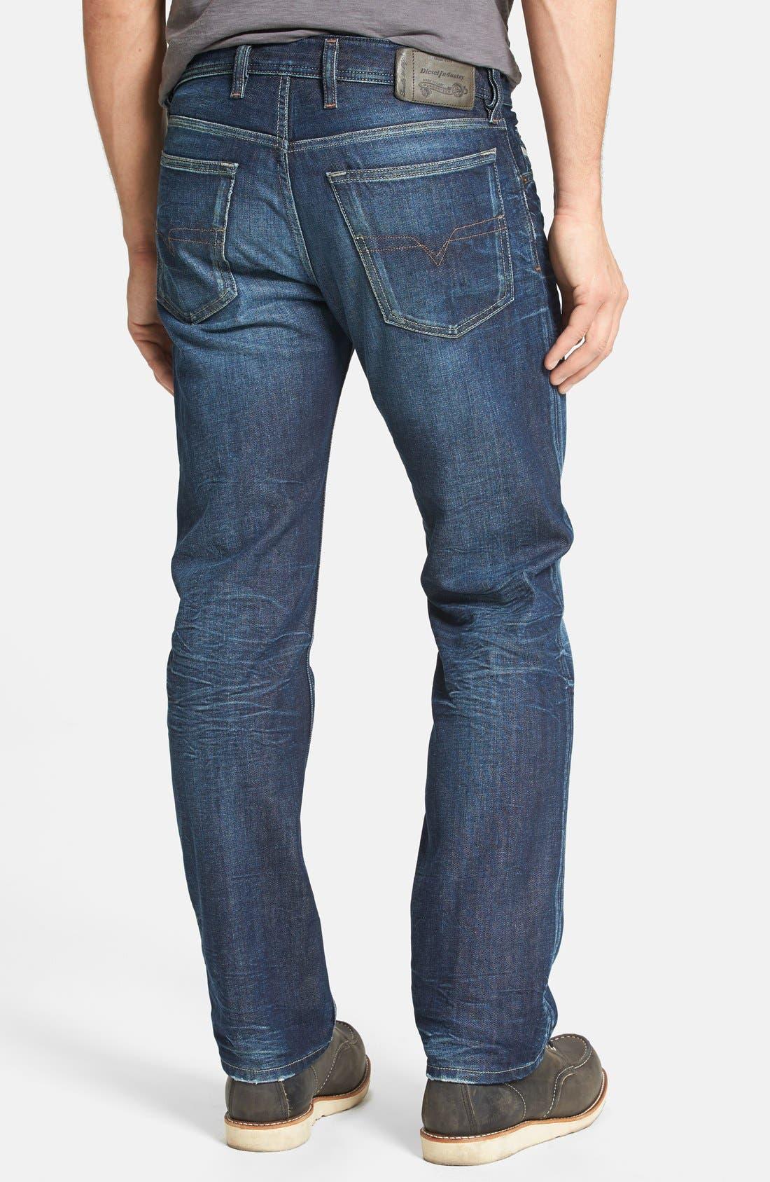 Alternate Image 2  - DIESEL® 'Waykee' Straight Leg Jeans (0806U)
