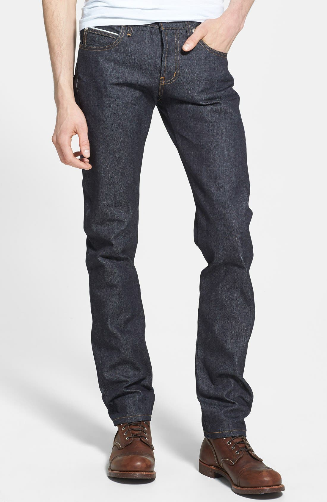 'Super Skinny Guy' Skinny Fit Jeans,                             Main thumbnail 1, color,                             Left Hand Twill Selvedge