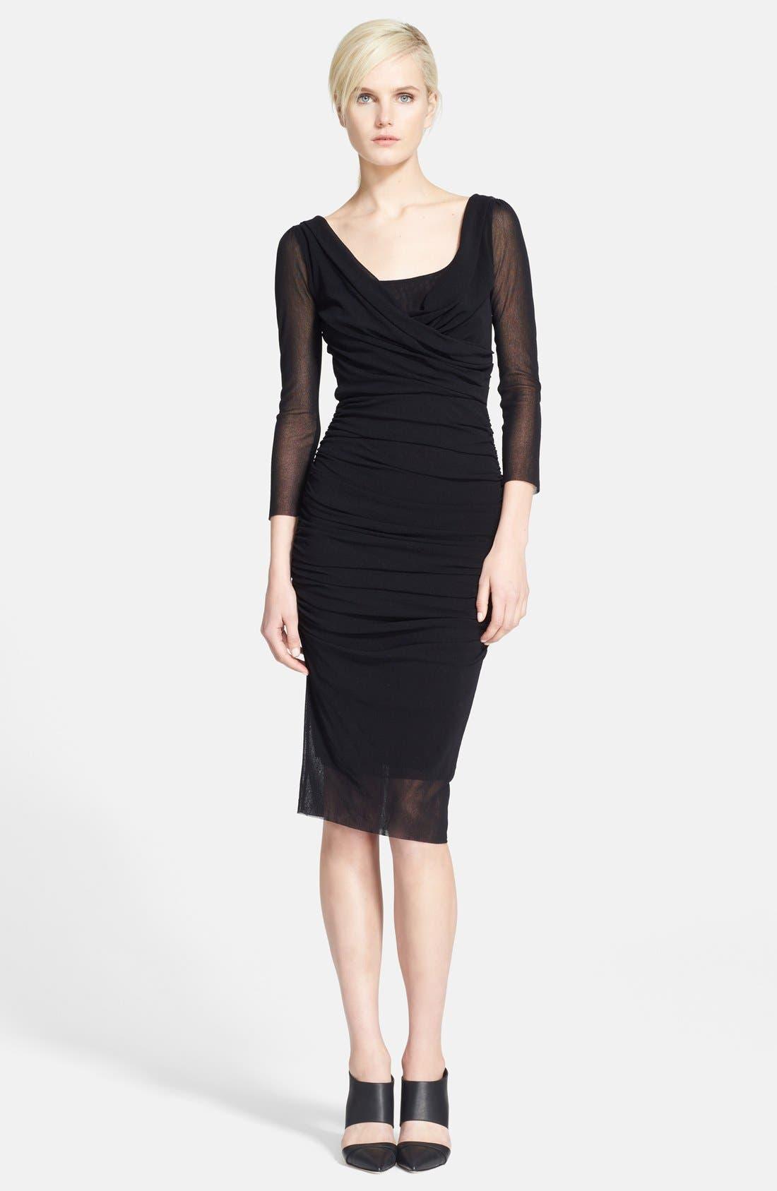 Alternate Image 1 Selected - Jean Paul Gaultier Drape Neck Tulle Dress