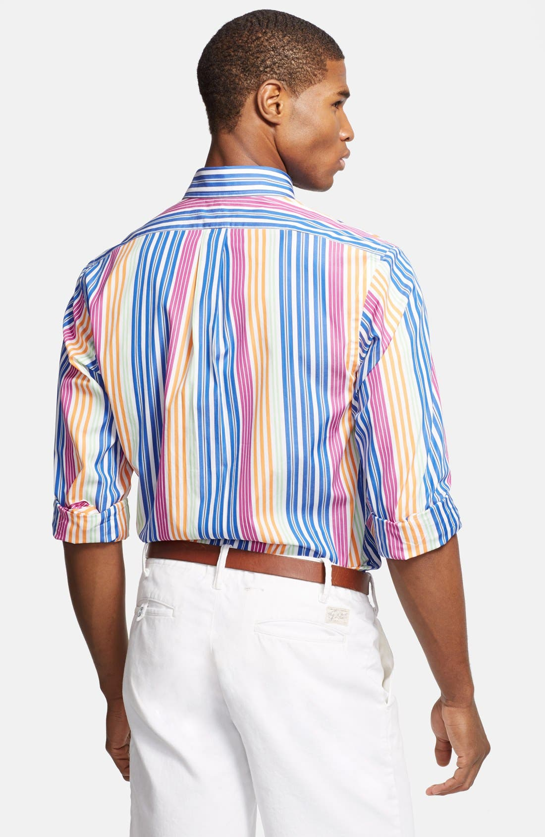 Alternate Image 2  - Polo Ralph Lauren Custom Fit Stripe Sport Shirt