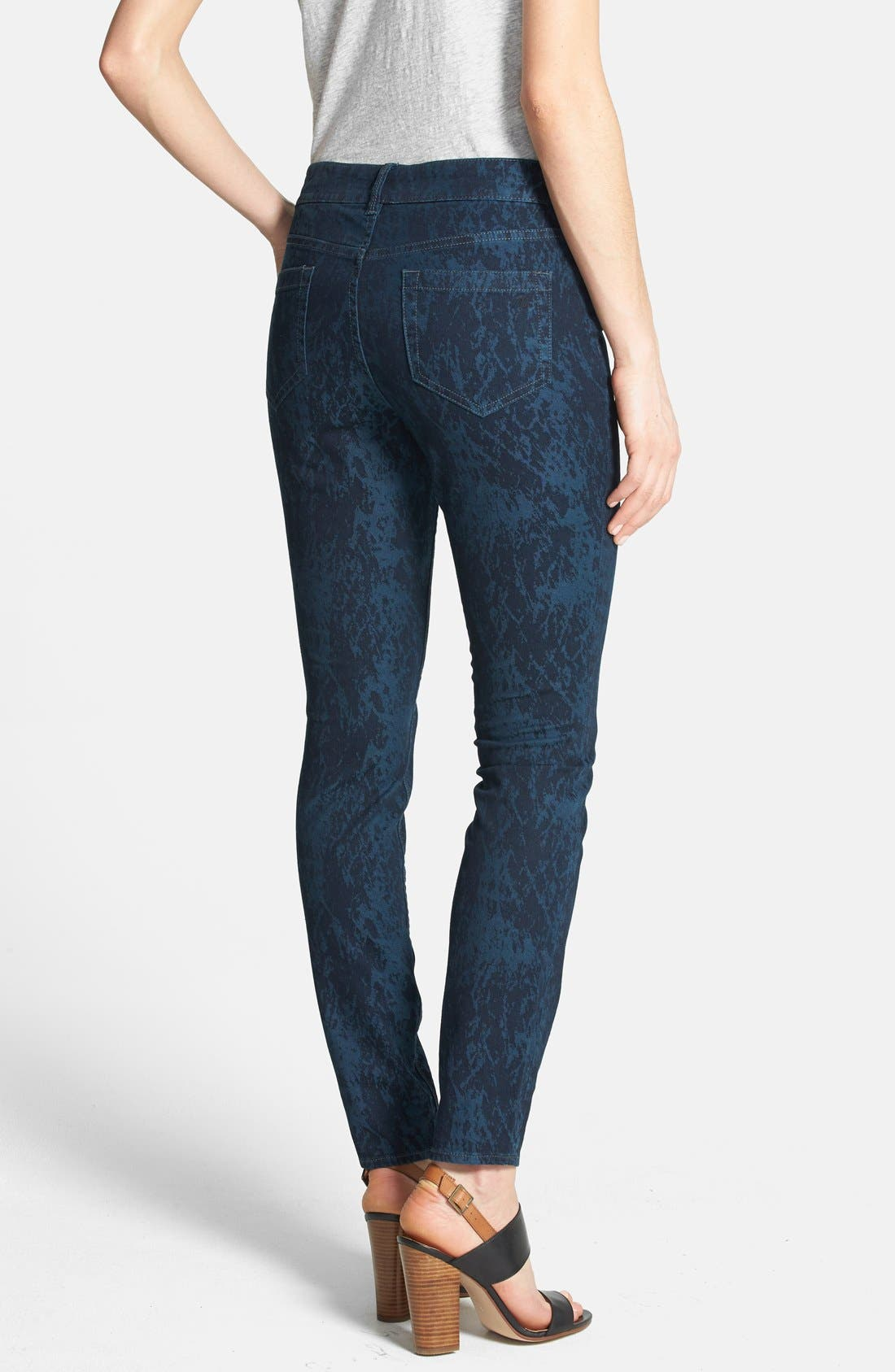 Alternate Image 2  - Two by Vince Camuto 'Paint Splattered' Print Skinny Jeans (Blue Night)