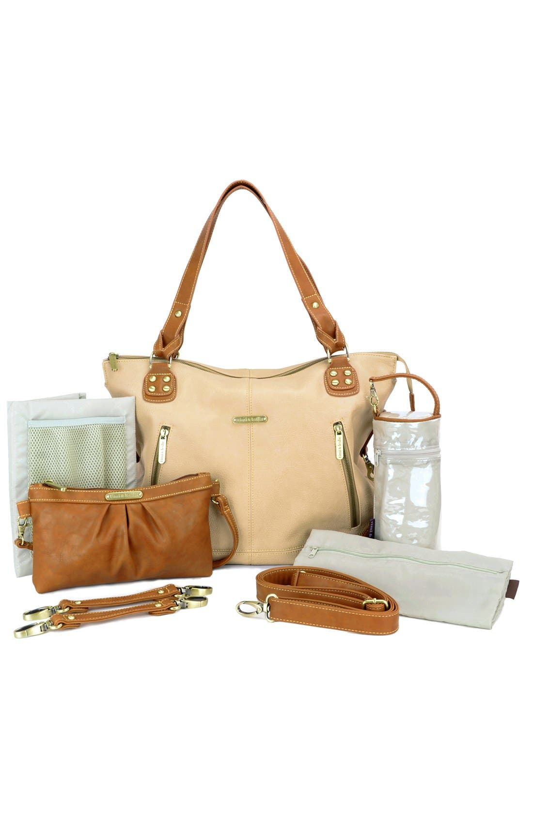 Alternate Image 3  - Timi & Leslie 'Kate' Faux Leather Diaper Bag