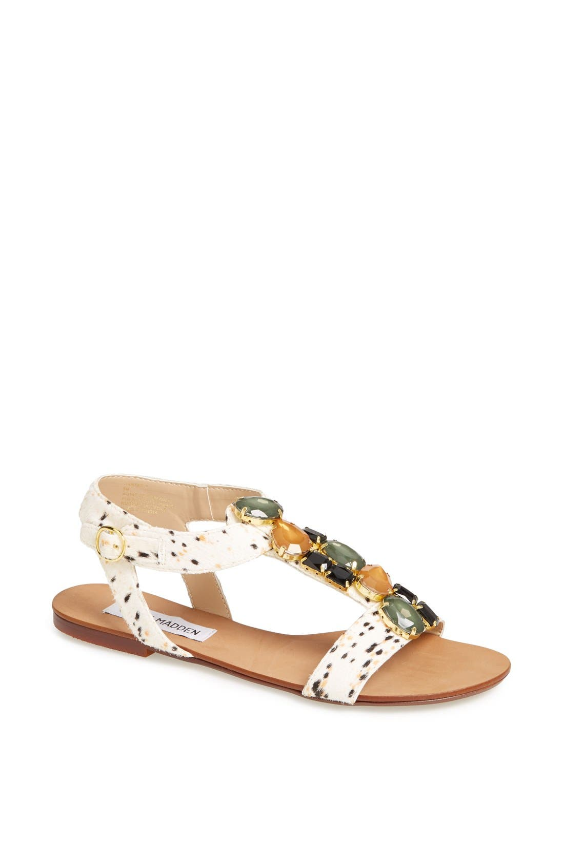 Alternate Image 1 Selected - Steve Madden 'Habtat-S' Calf Hair Sandal