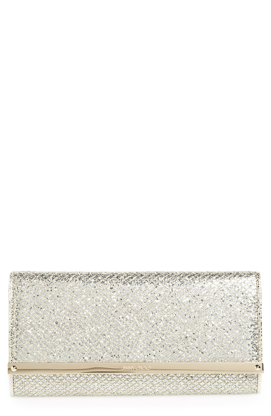 'Milla' Glitter Wallet on a Chain,                             Main thumbnail 1, color,                             Champagne