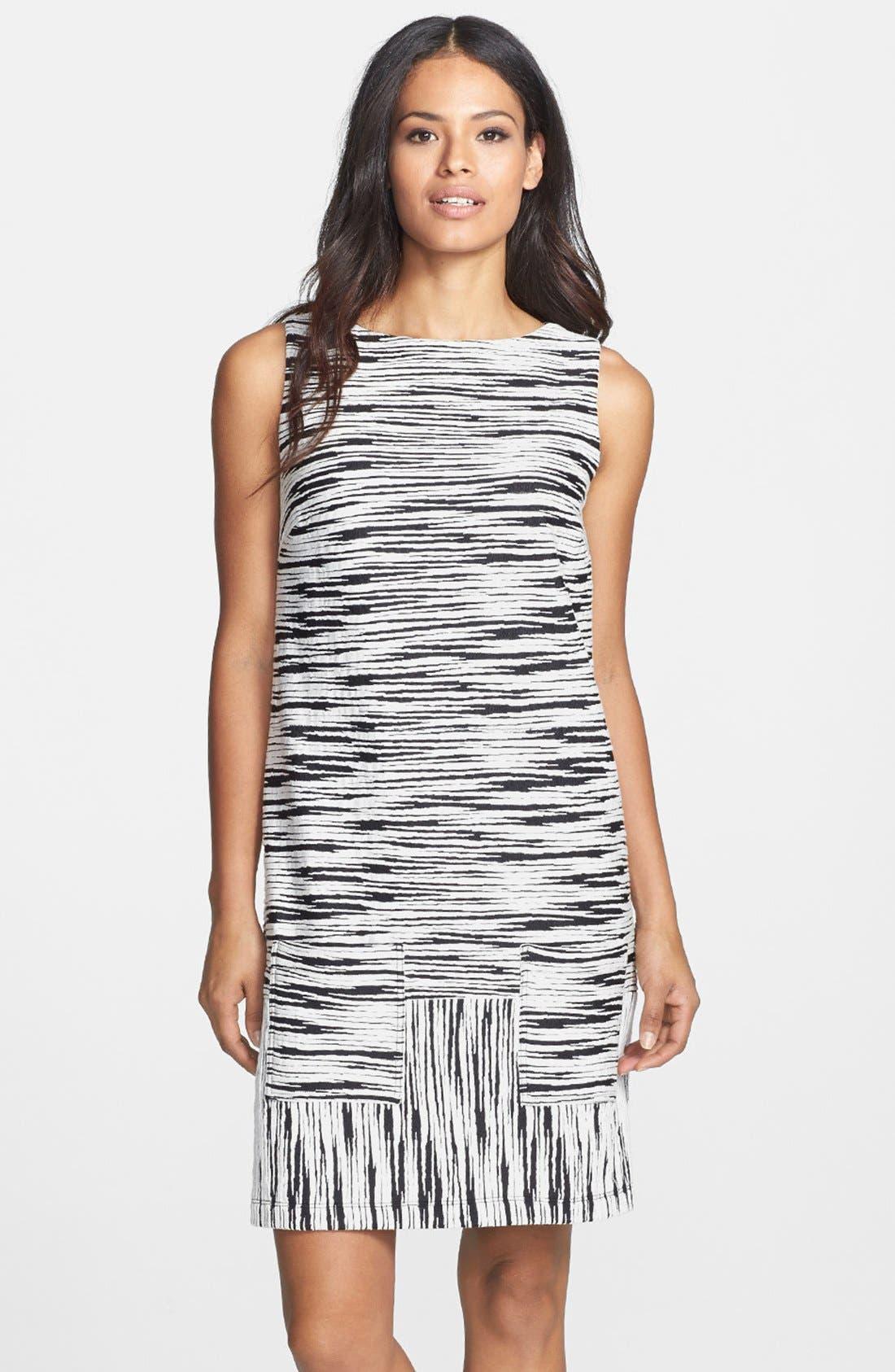 Main Image - Isaac Mizrahi New York Print Cotton Jersey Dress