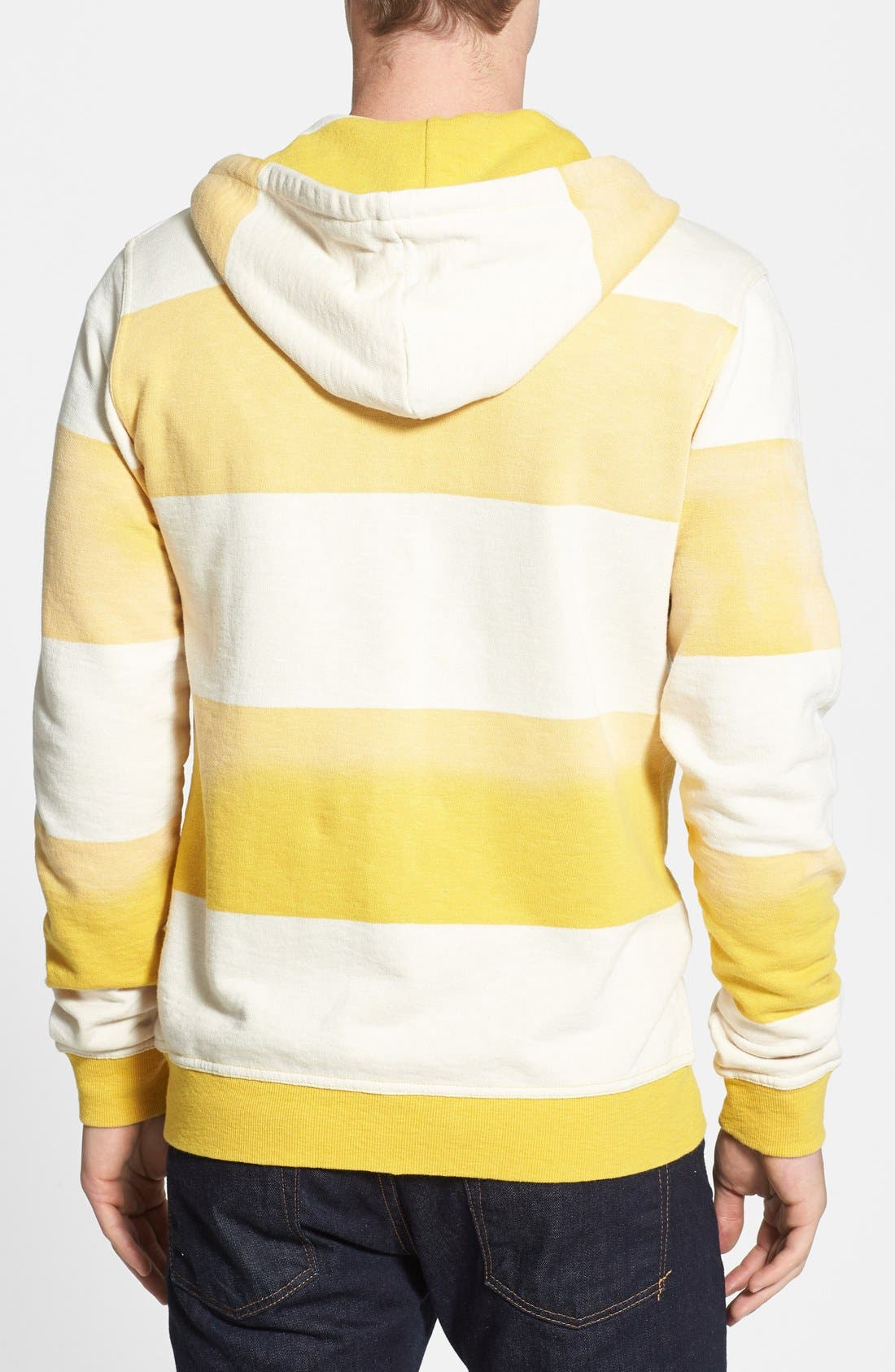 Alternate Image 2  - Threads for Thought Stripe Slub Terry Zip Hoodie