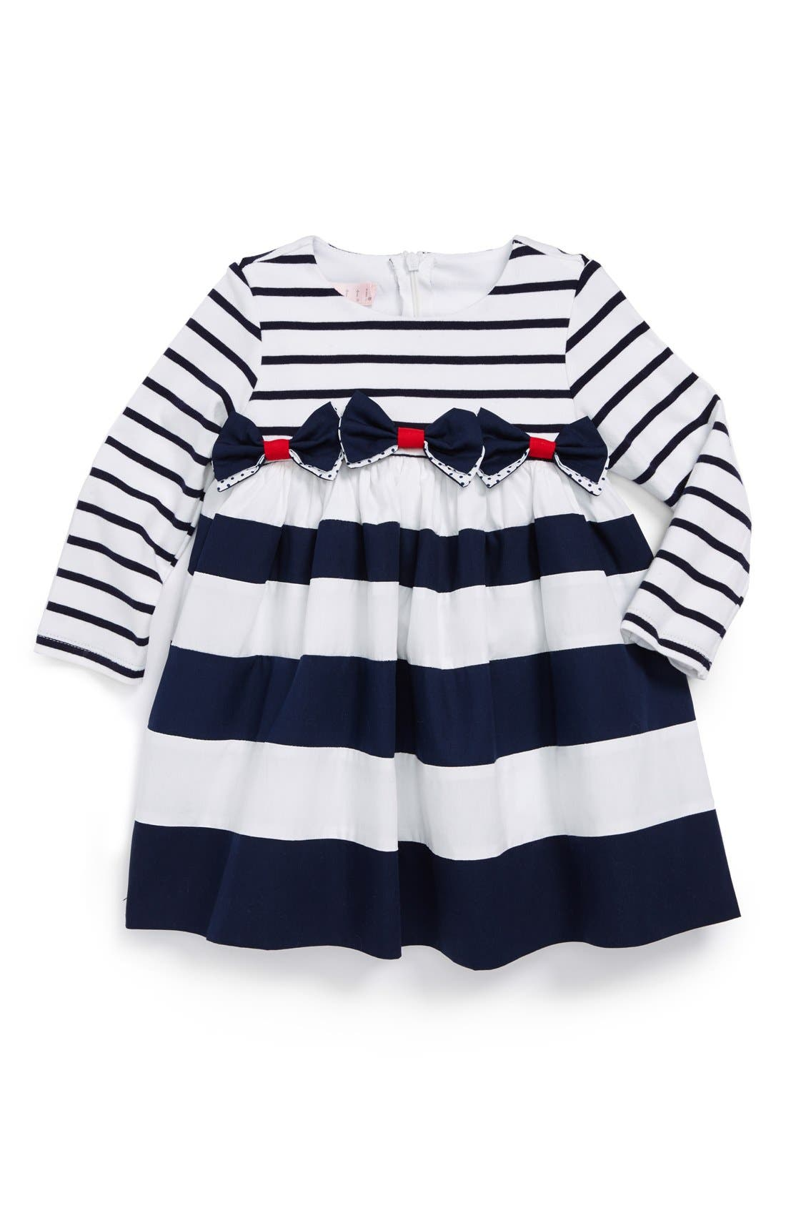 Alternate Image 1 Selected - Biscotti Stripe Dress (Baby Girls)