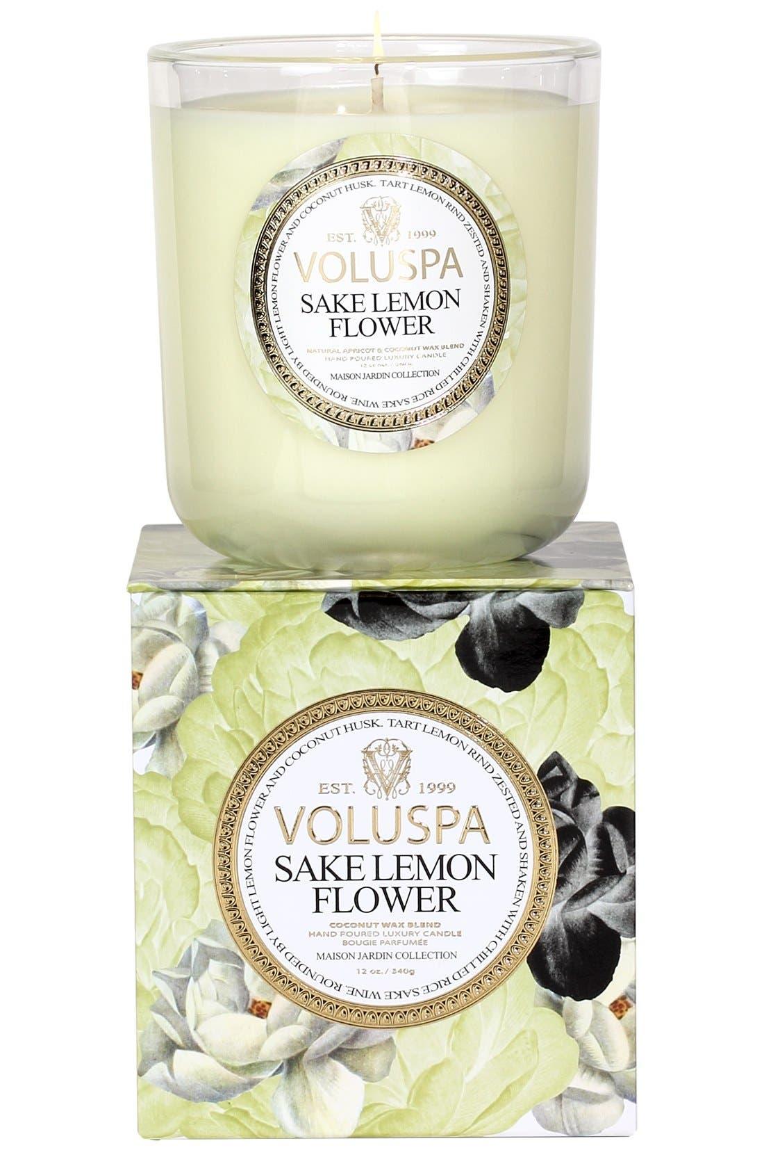 Main Image - Voluspa 'Maison Jardin - Sake Lemon Flower' Scented Candle