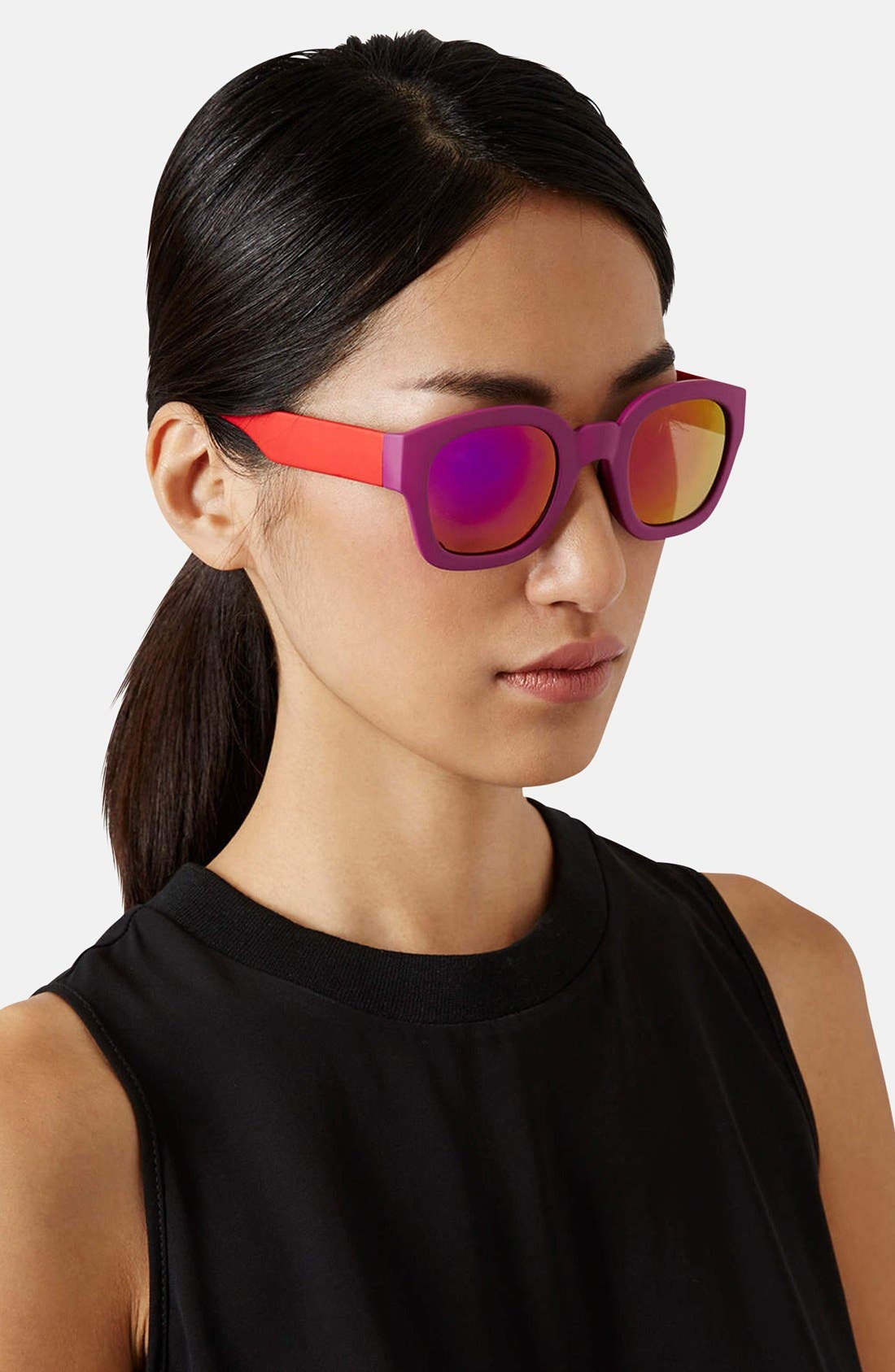 Alternate Image 2  - Topshop 'Wade' 48mm Sunglasses
