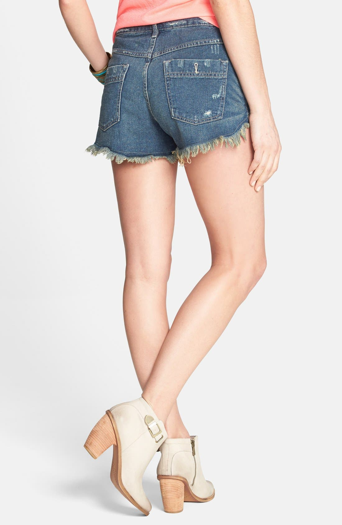 Alternate Image 2  - Free People 'Dolphin' Vintage Denim Cutoff Shorts (Eagle)