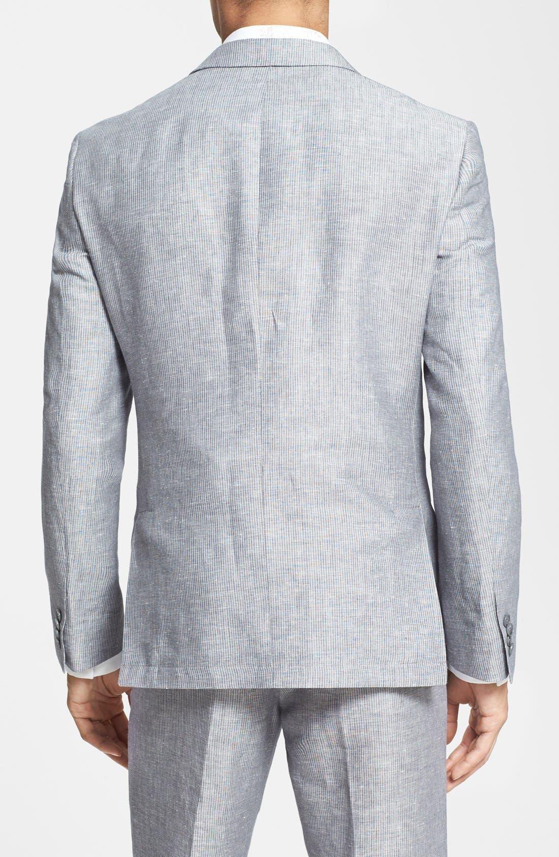 Alternate Image 2  - John Varvatos Star USA Stripe Linen & Cotton Sport Coat