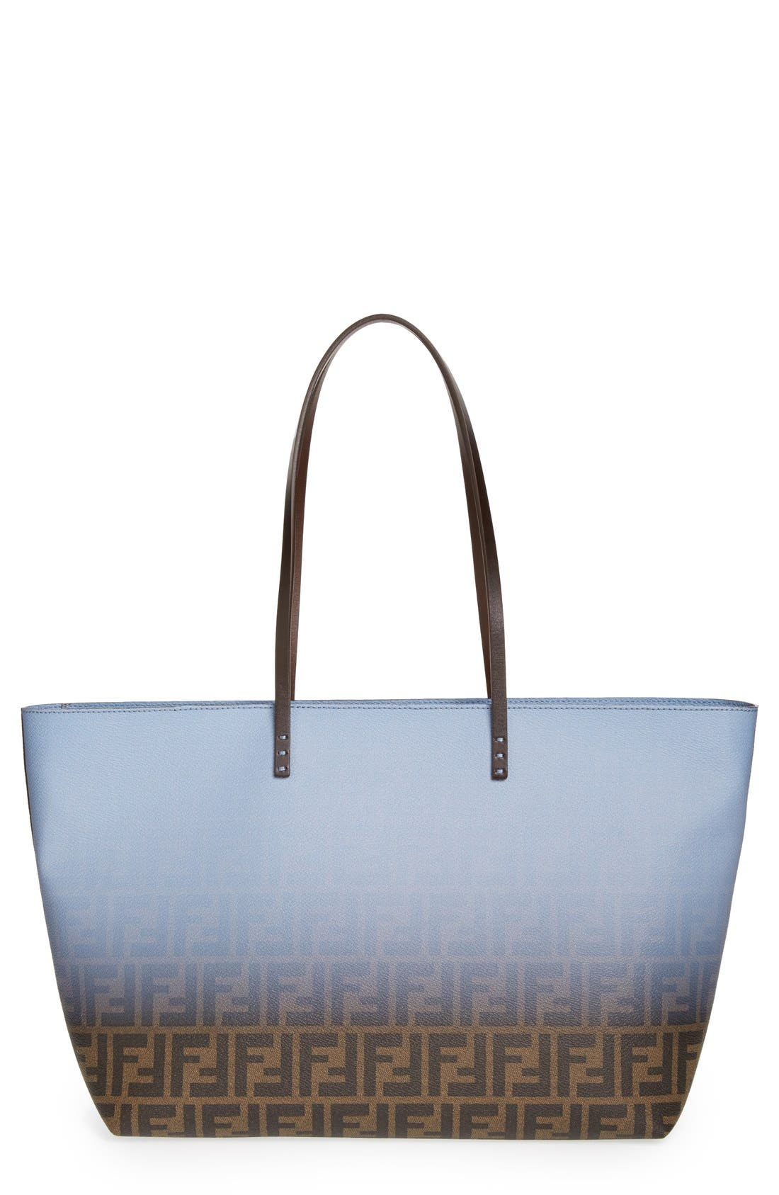 Main Image - Fendi 'Ombré Zucca' Coated Fabric Tote