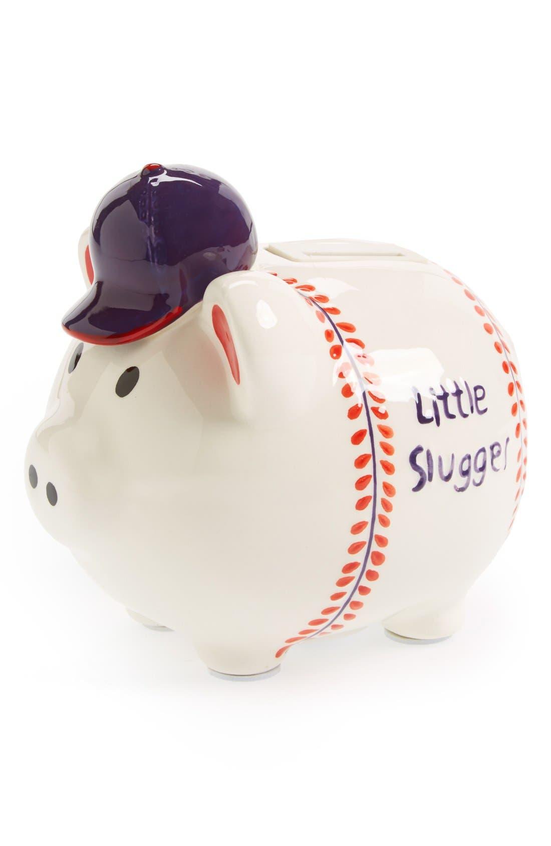Main Image - Mud Pie 'Little Slugger' Musical Ceramic Piggy Bank
