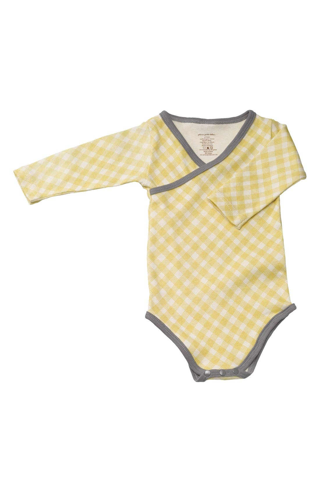 Alternate Image 1 Selected - Petunia Pickle Bottom Organic Cotton Long Sleeve Bodysuit (Baby Girls)