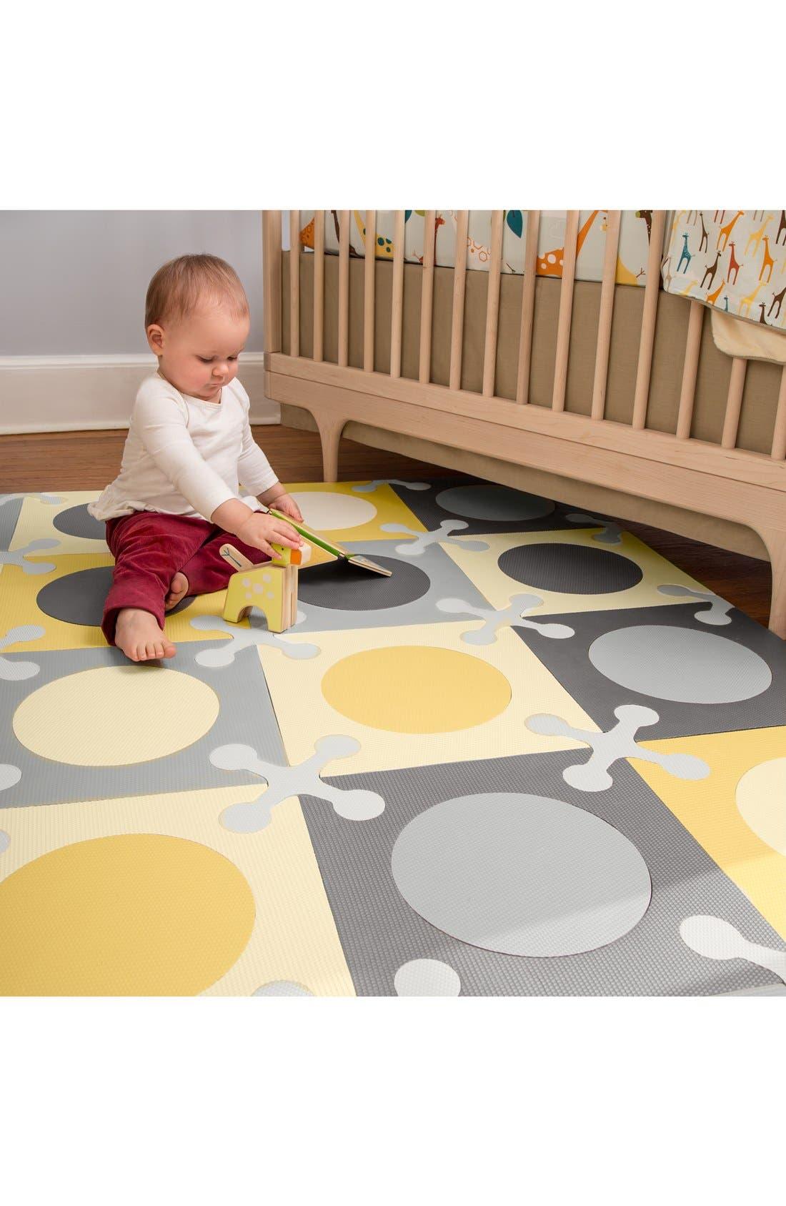 'Playspot' Floor Tiles,                             Alternate thumbnail 4, color,                             Gray/ Gold