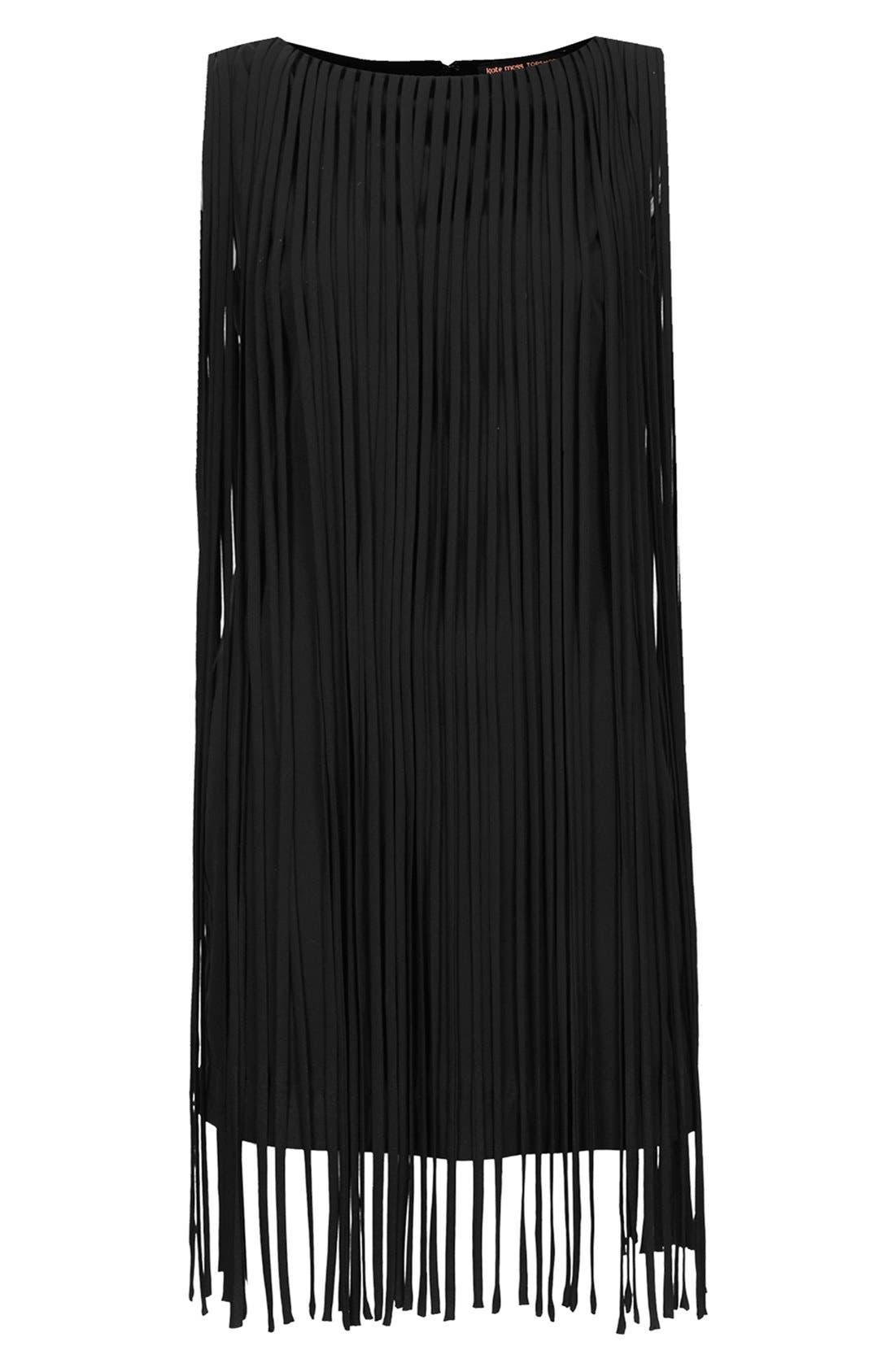 Alternate Image 3  - Kate Moss for Topshop Long Fringed Tassel Dress