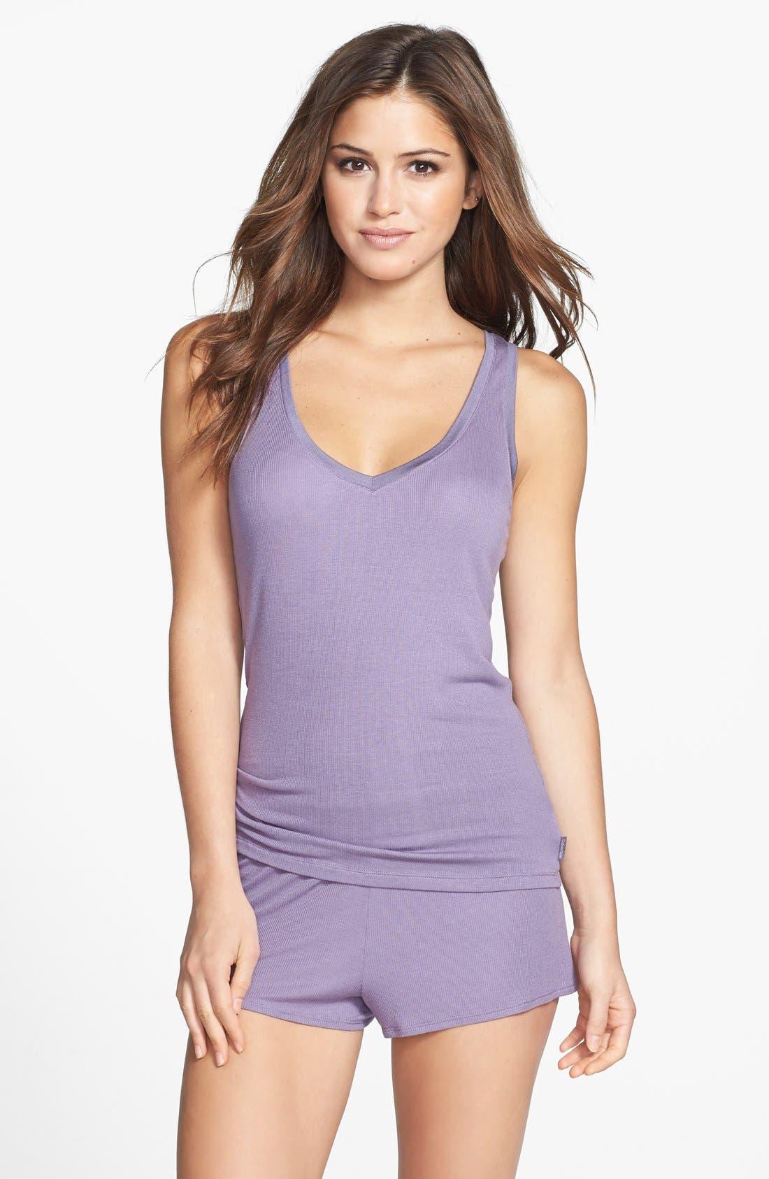 Alternate Image 3  - Calvin Klein V-Neck Modal Blend Pajama Tank