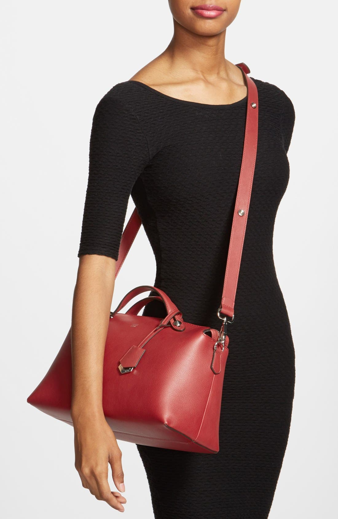 Alternate Image 2  - Fendi 'Bauletto Grande' Leather Shoulder Bag