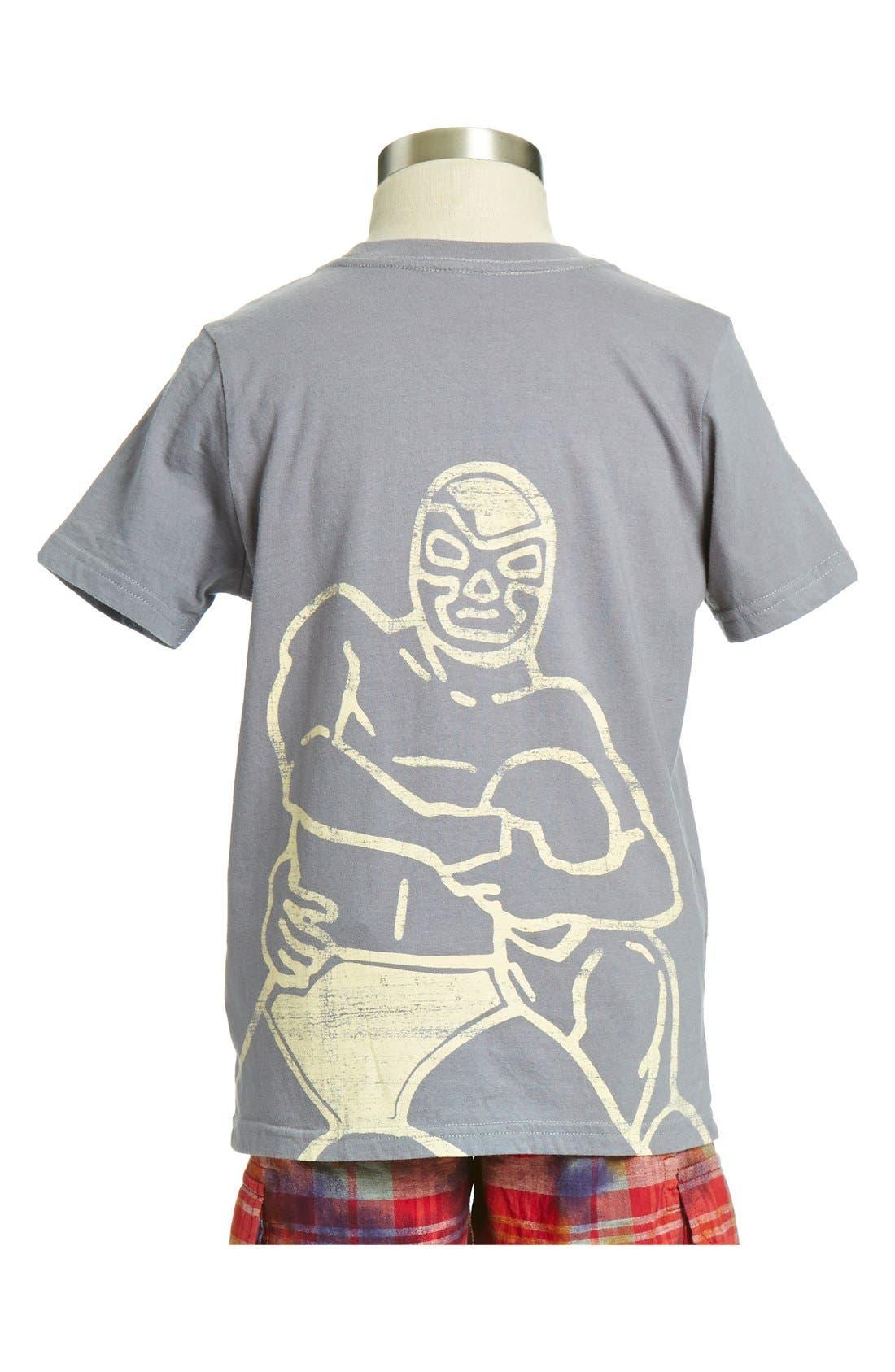 Alternate Image 2  - Peek 'Wrestling' Cotton T-Shirt (Toddler Boys, Little Boys & Big Boys)