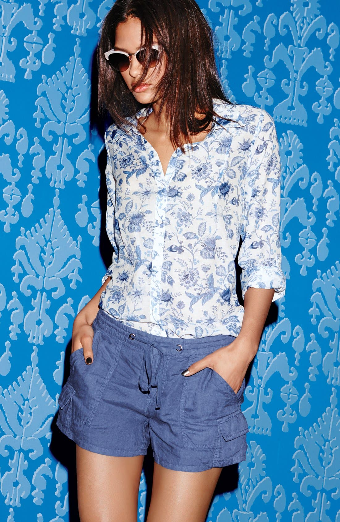 Alternate Image 4  - Joie 'Katrine' Cotton & Silk Blouse