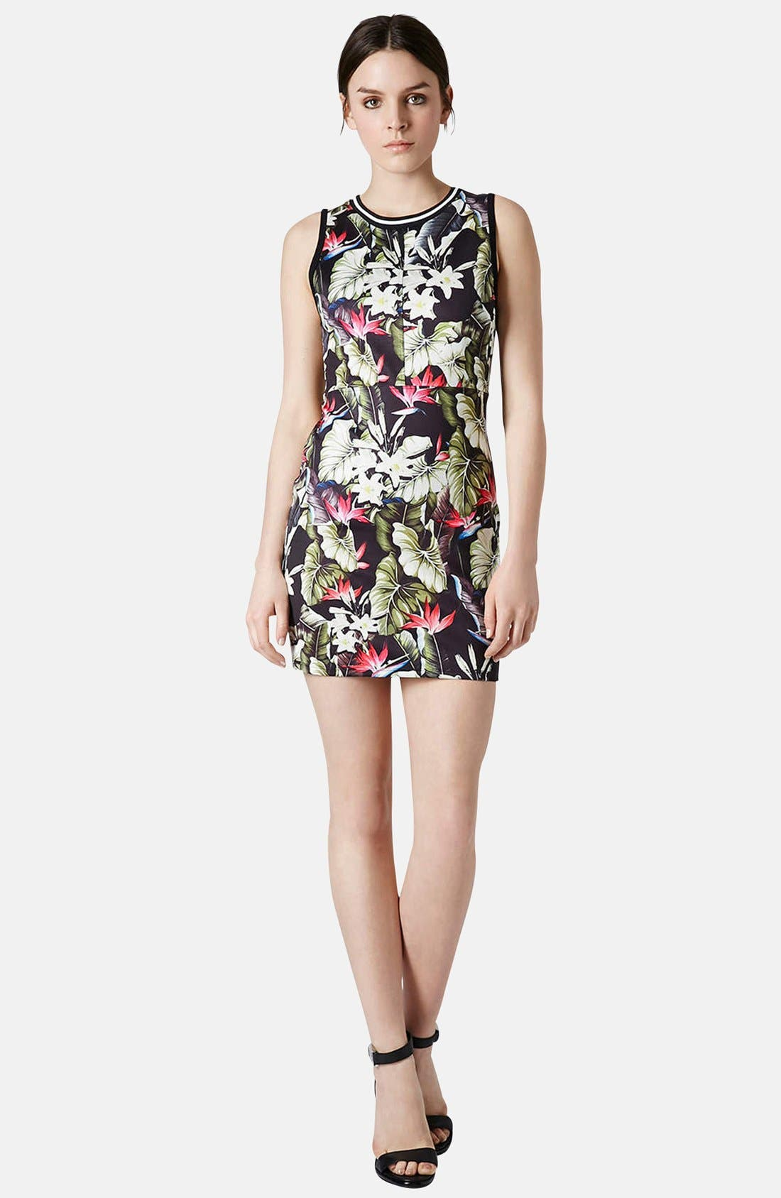 Alternate Image 5  - Topshop 'Island Life' Tropical Print Body-Con Dress