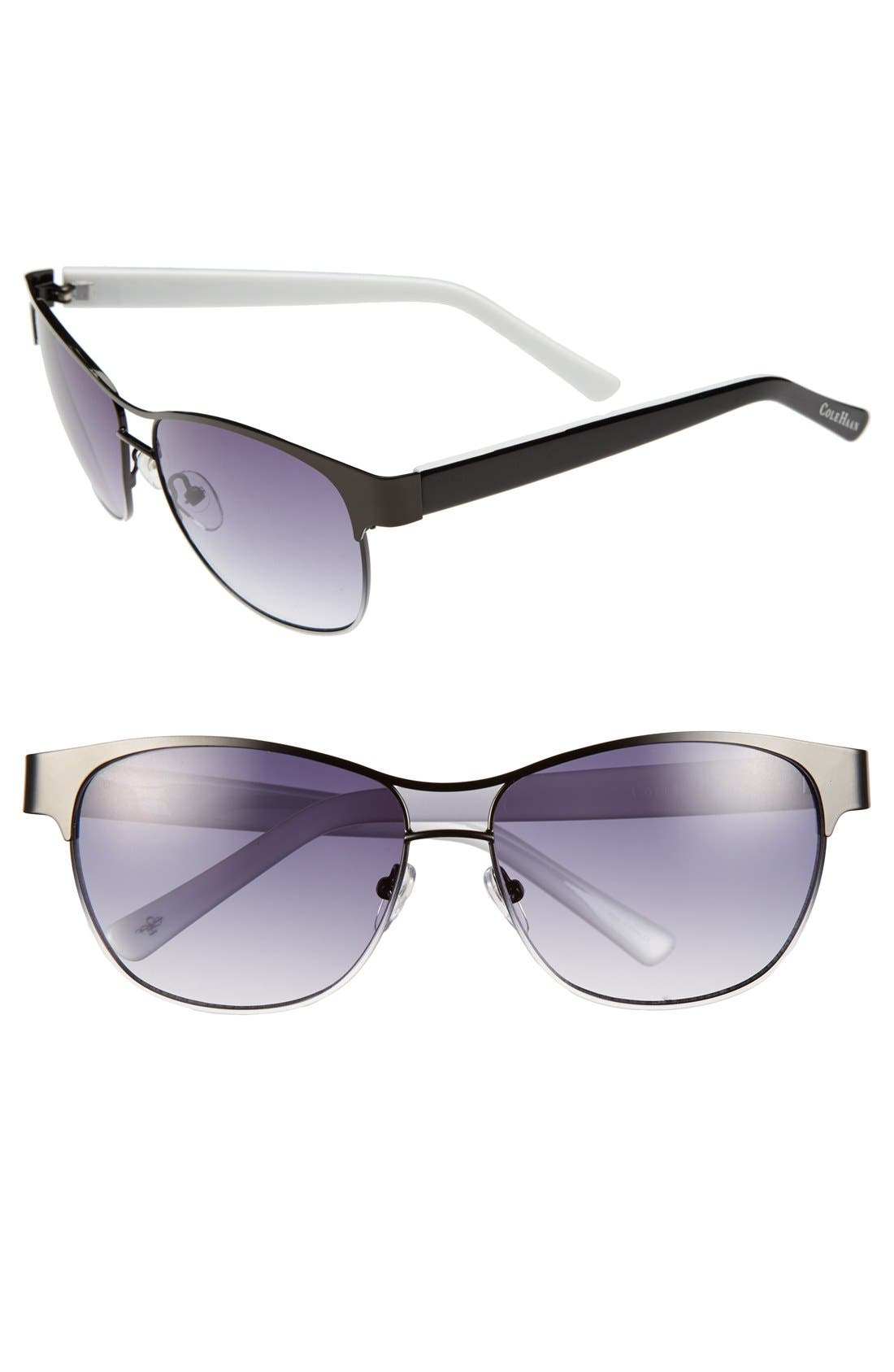 Alternate Image 1 Selected - Cole Haan 58mm Aviator Sunglasses