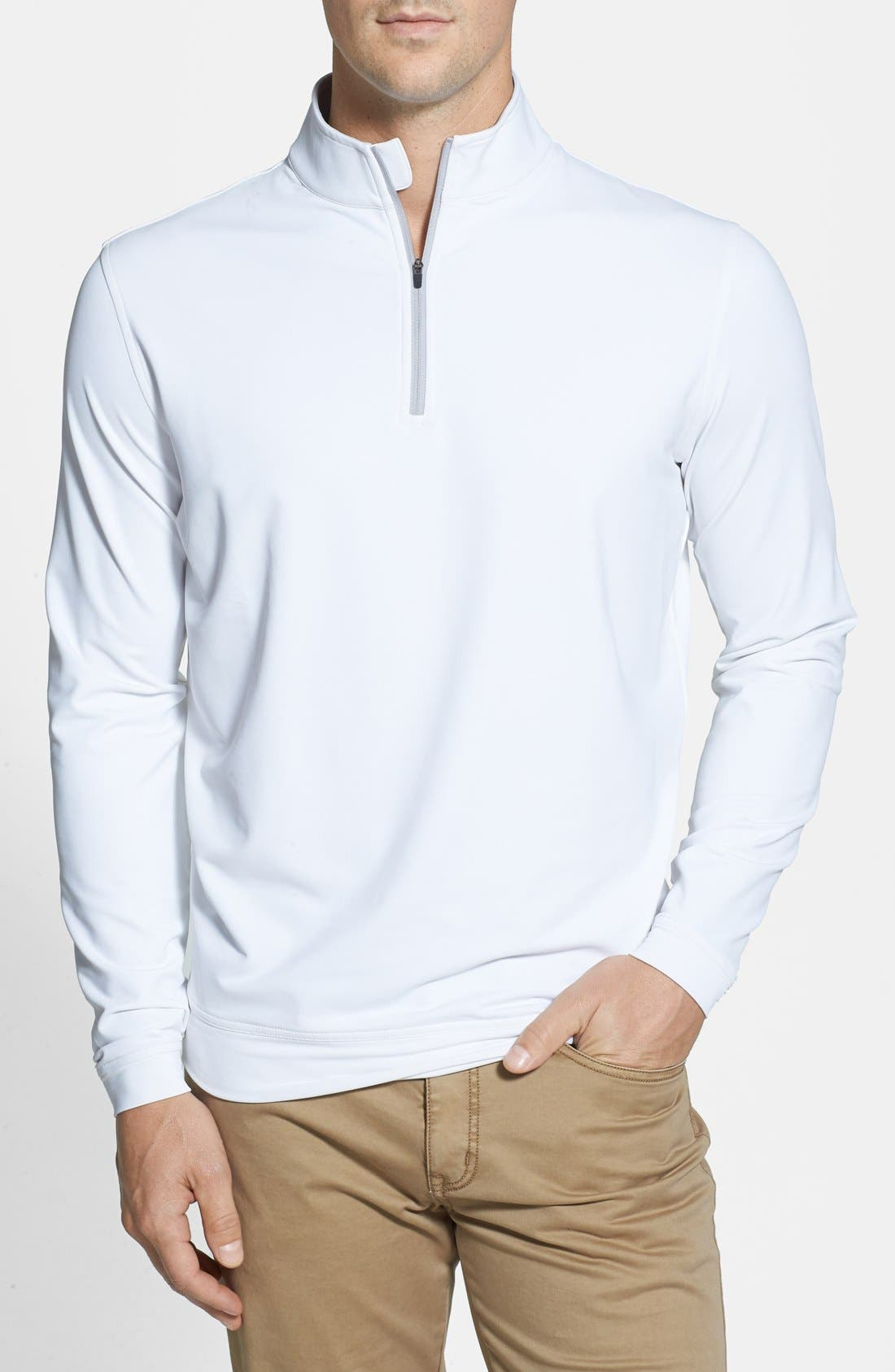 Alternate Image 1 Selected - Peter Millar Moisture Wicking Stretch Quarter Zip Jacket