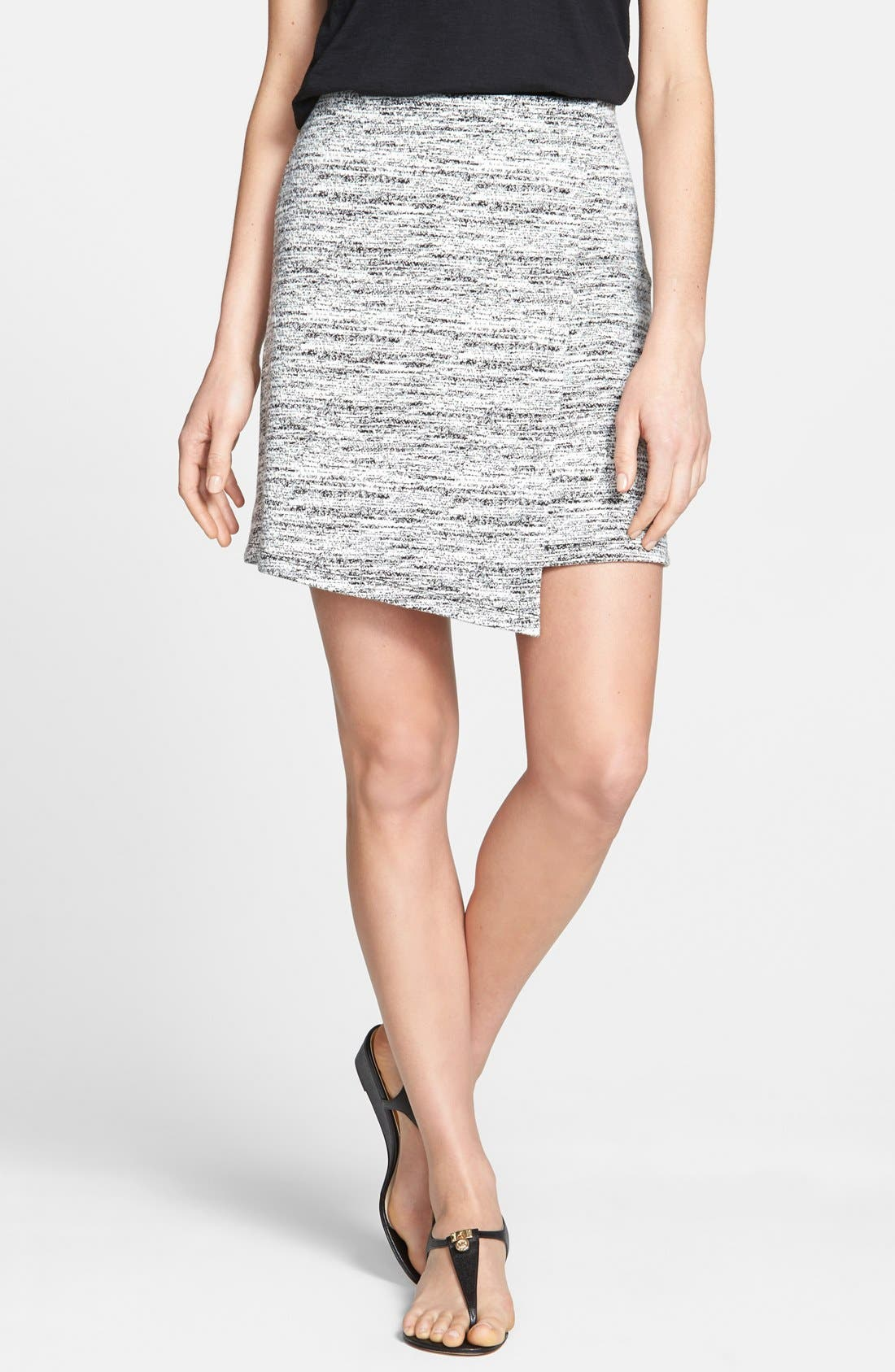 Alternate Image 1 Selected - Halogen® Faux Wrap Textured Knit Skirt (Regular & Petite)