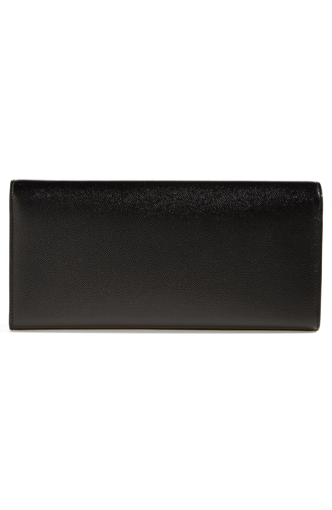 Alternate Image 3  - Saint Laurent 'Monogram' Leather Clutch