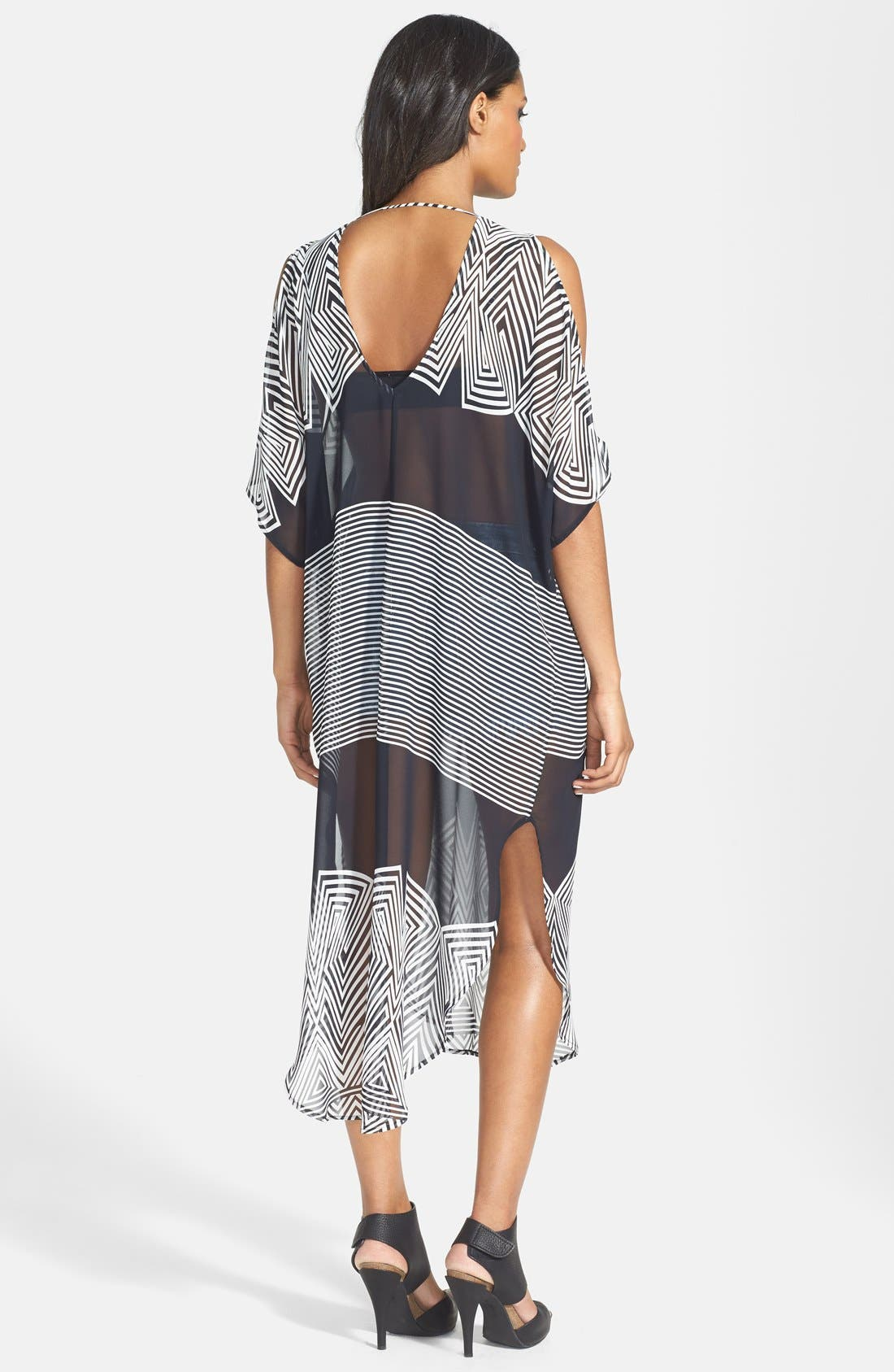 Alternate Image 2  - ASTR Lace-Up Oversized Shift Dress