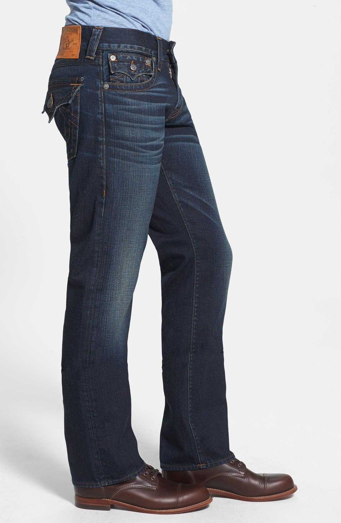 Alternate Image 3  - True Religion Brand Jeans 'Ricky' Relaxed Fit Jeans (Base Notes Blue)