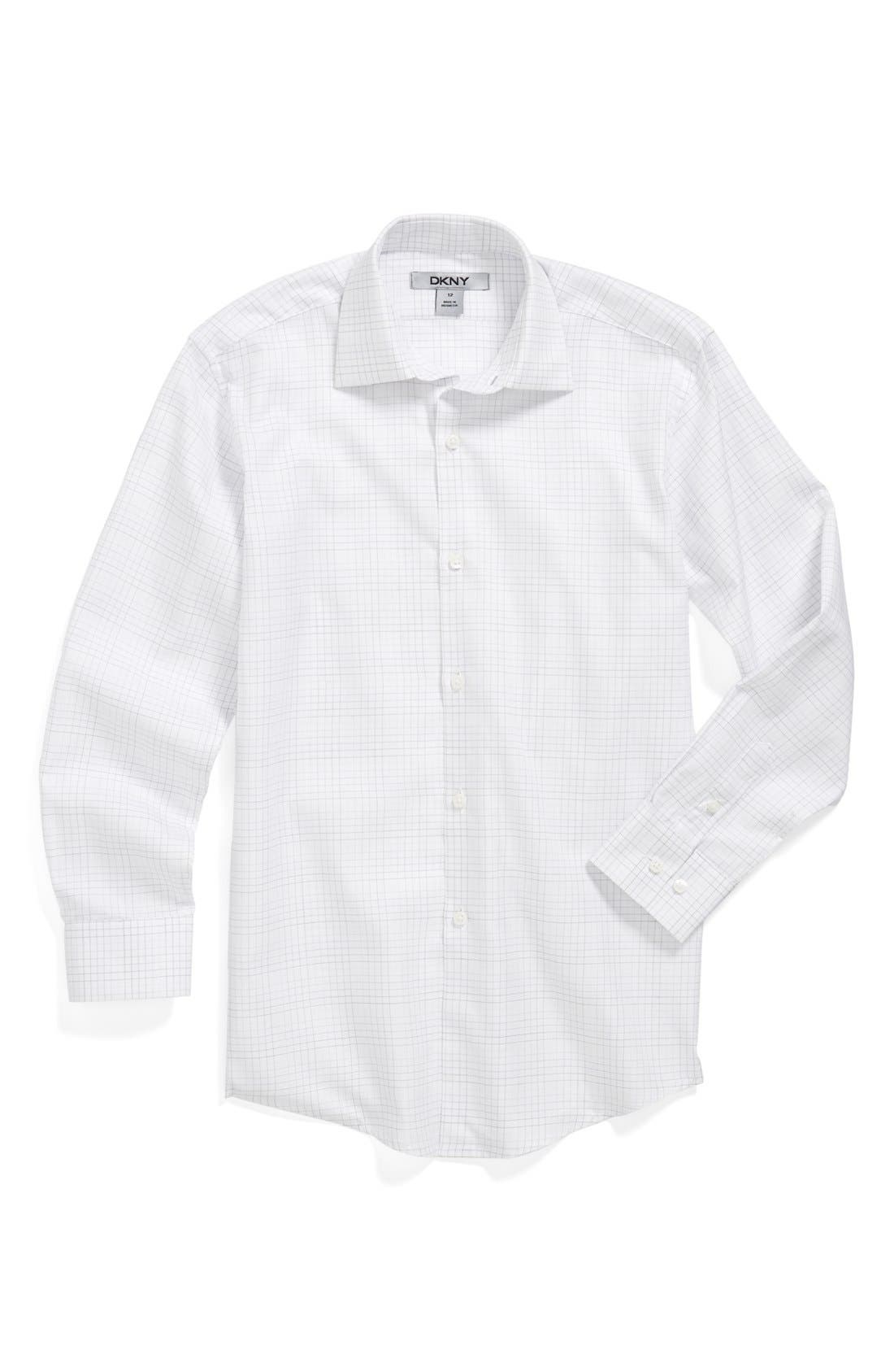 Main Image - DKNY Check Dress Shirt (Big Boys)