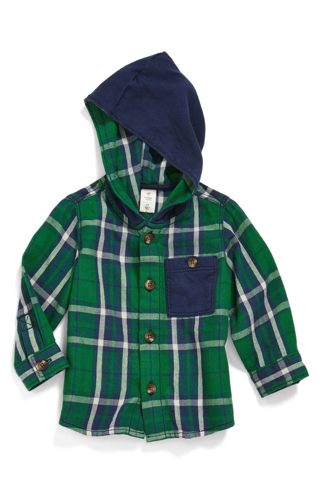 Alternate Image 1 Selected - Tucker + Tate Button Front Hoodie (Baby Boys)