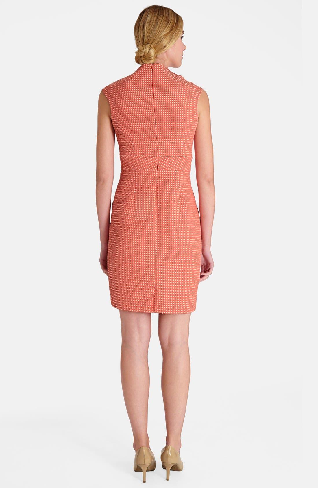 Alternate Image 2  - Tahari Jacquard Sheath Dress (Petite)