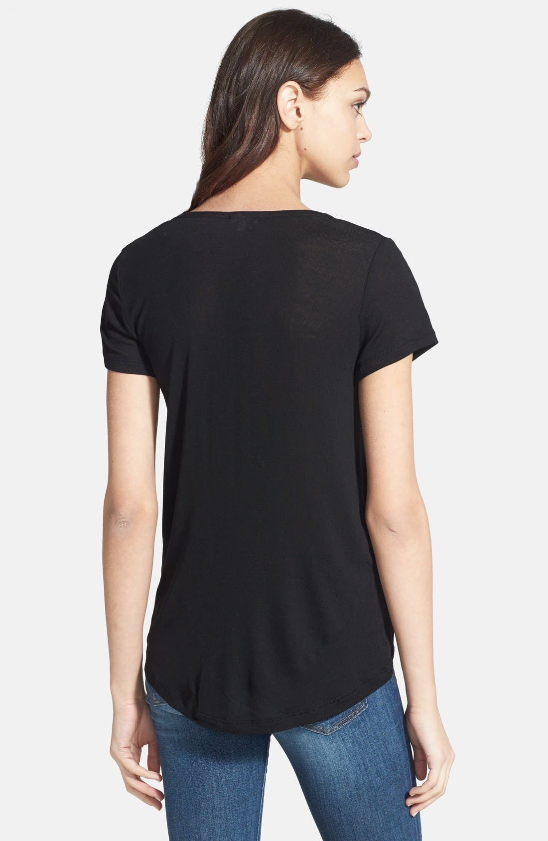 Alternate Image 2  - Splendid Scoop Neck Jersey Tee