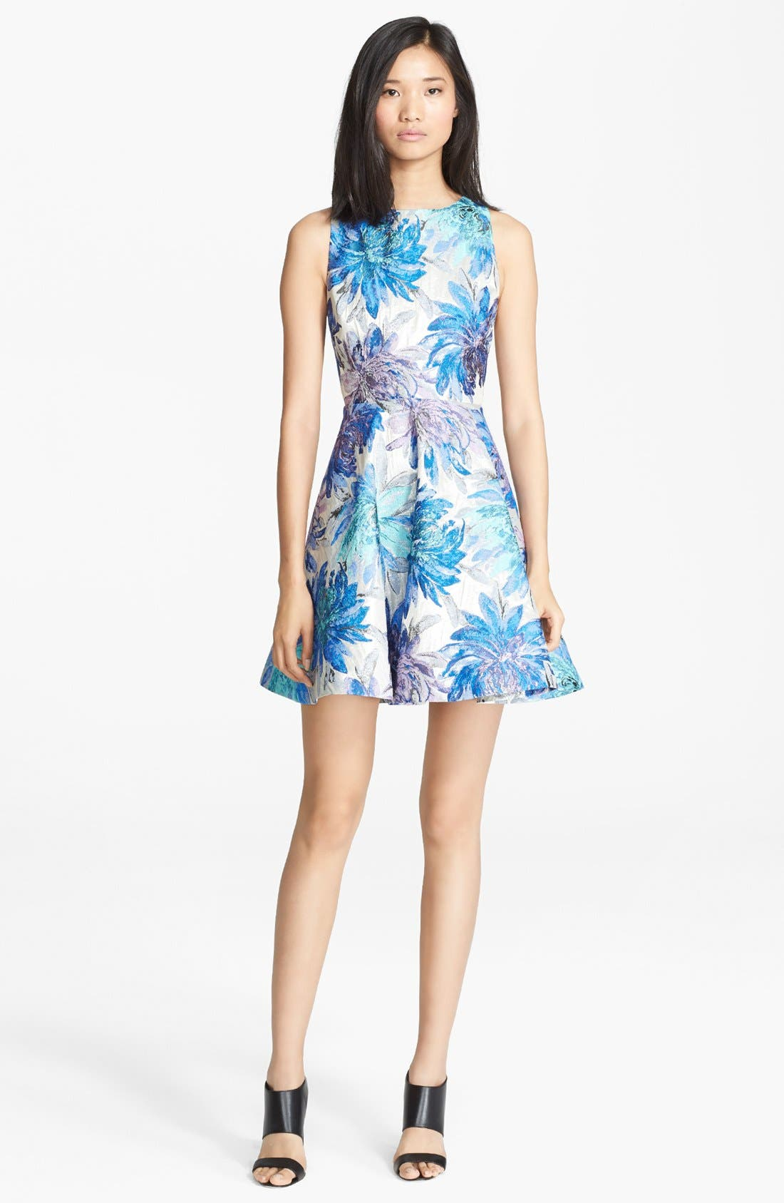 Main Image - Alice + Olivia 'Foss' Cutout Back Fit & Flare Dress