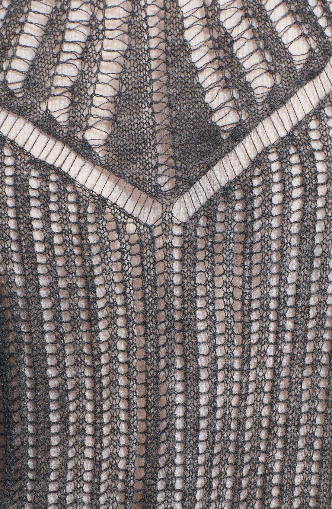 Alternate Image 4  - Alexander McQueen Layered Silk & Wool Sweater