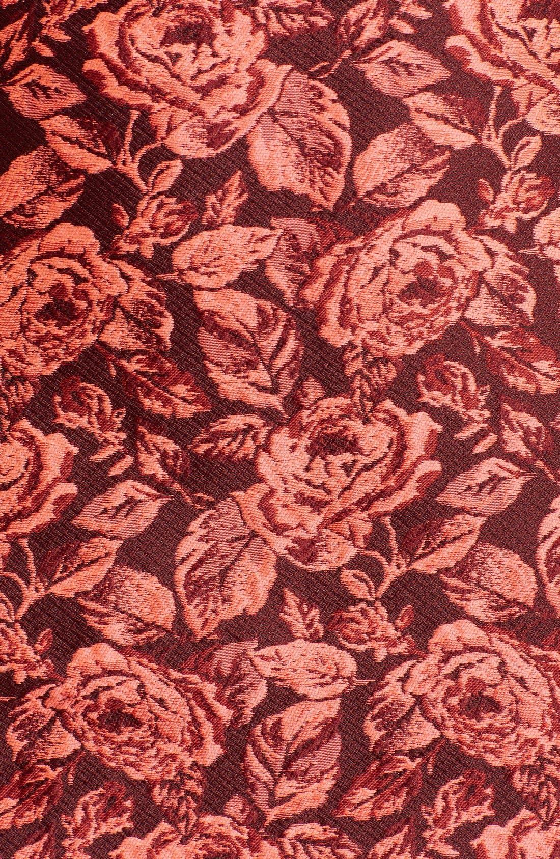 Alternate Image 3  - Erdem Fitted Neon Floral Jacquard Dress